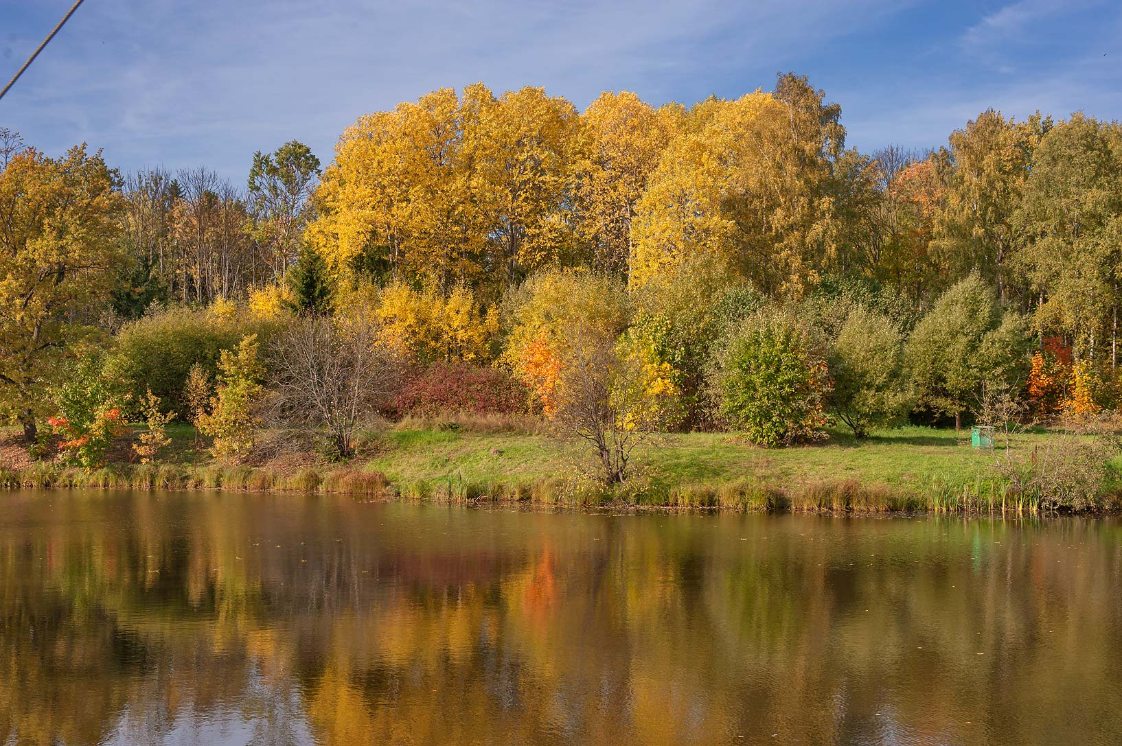 Fall colors of Lower Lamskiy Pond in Alexander...south from St.Petersburg, Russia