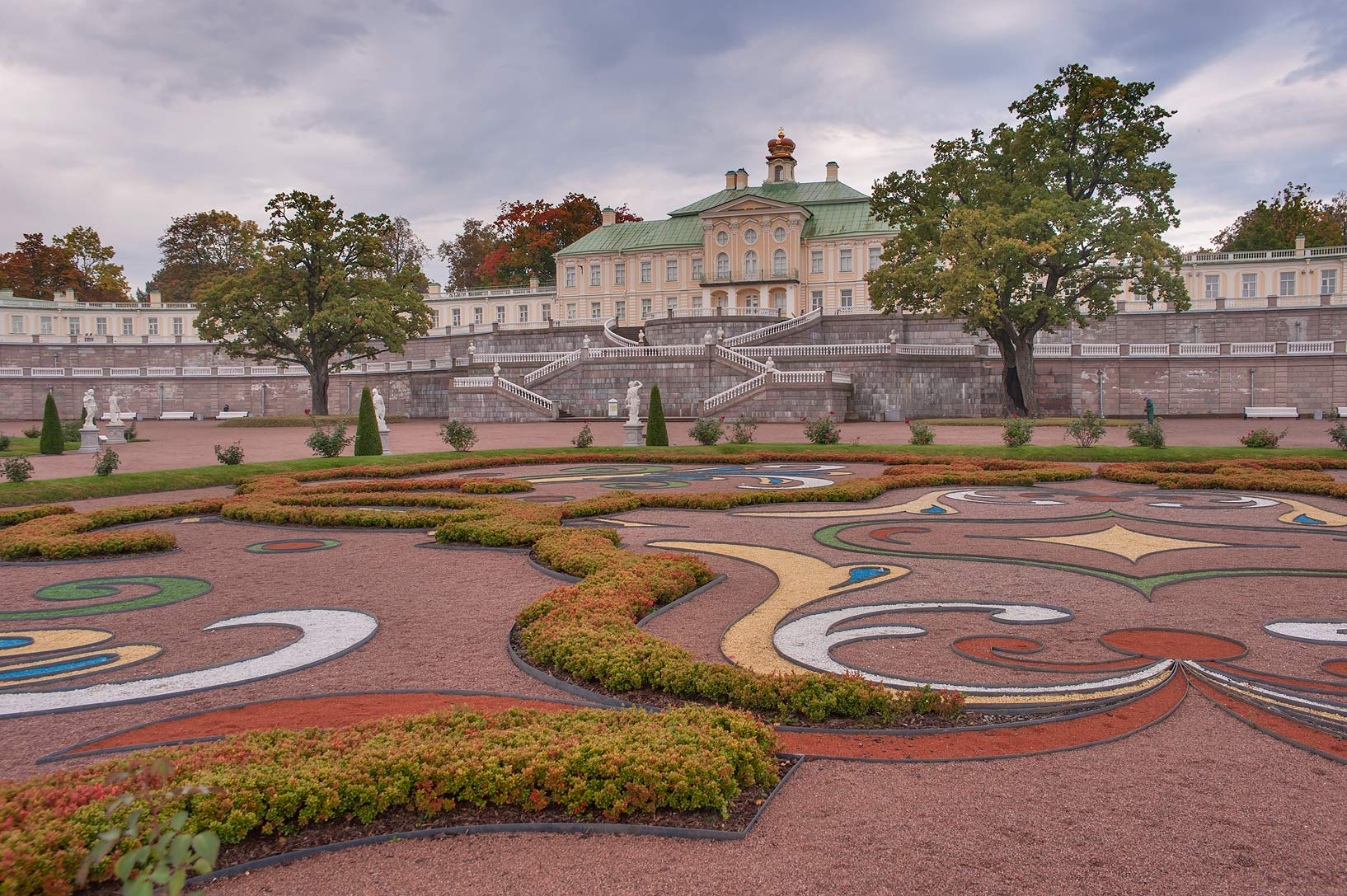 Lower Garden near Menshikov's Palace. Oranienbaum...a suburb of St.Petersburg, Russia