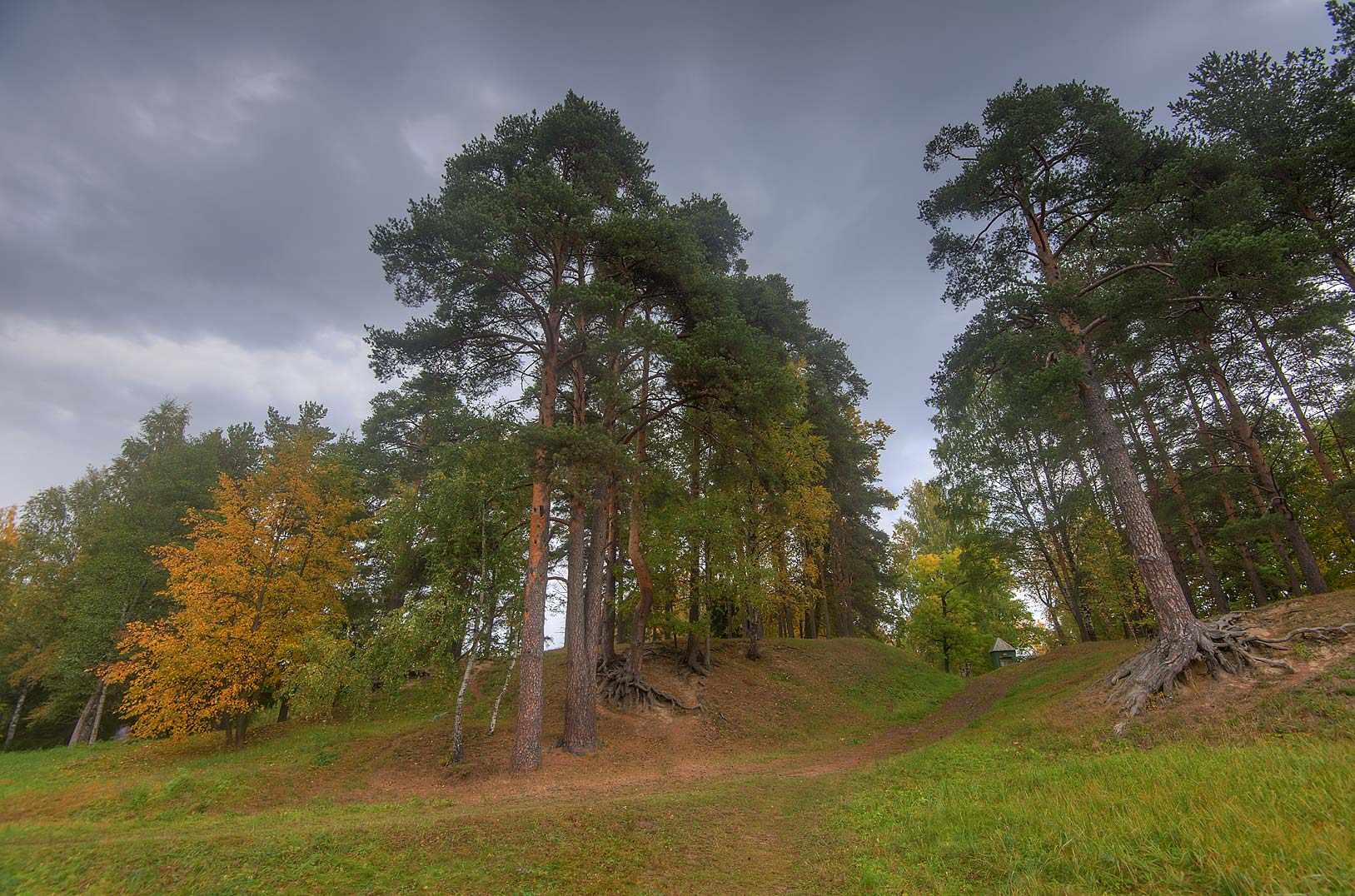 Little Switzerland area in the park. Oranienbaum...a suburb of St.Petersburg, Russia