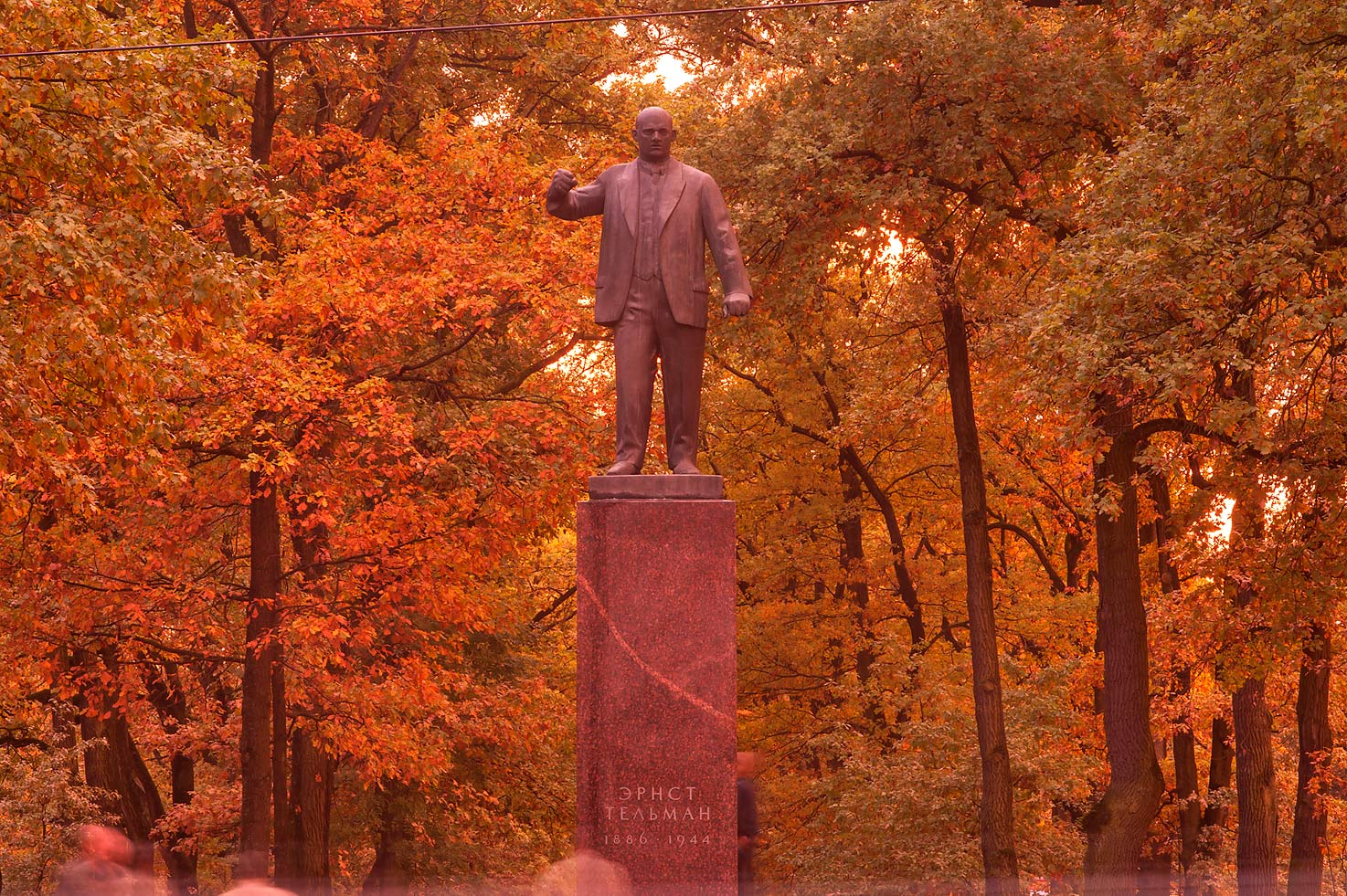 Statue of German communist leader Ernst Thalmann...a suburb of St.Petersburg. Russia