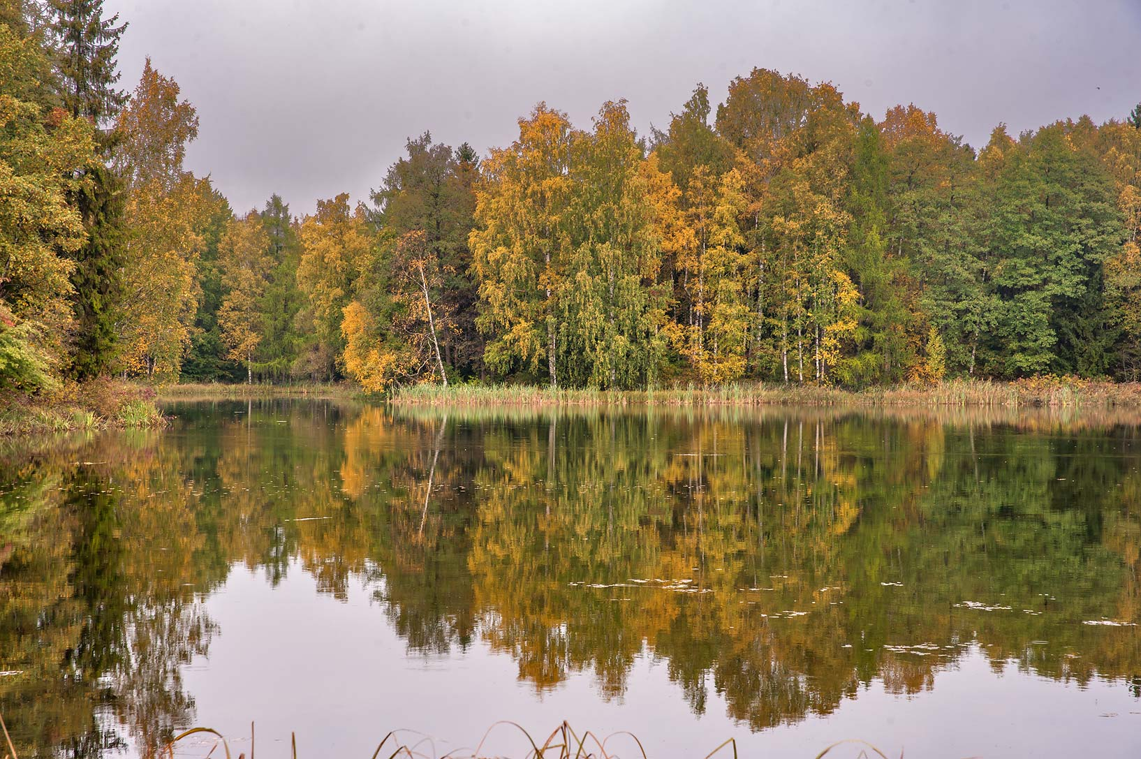 Long Island on Beloe Lake in Gatchina, a suburb of St.Petersburg. Russia
