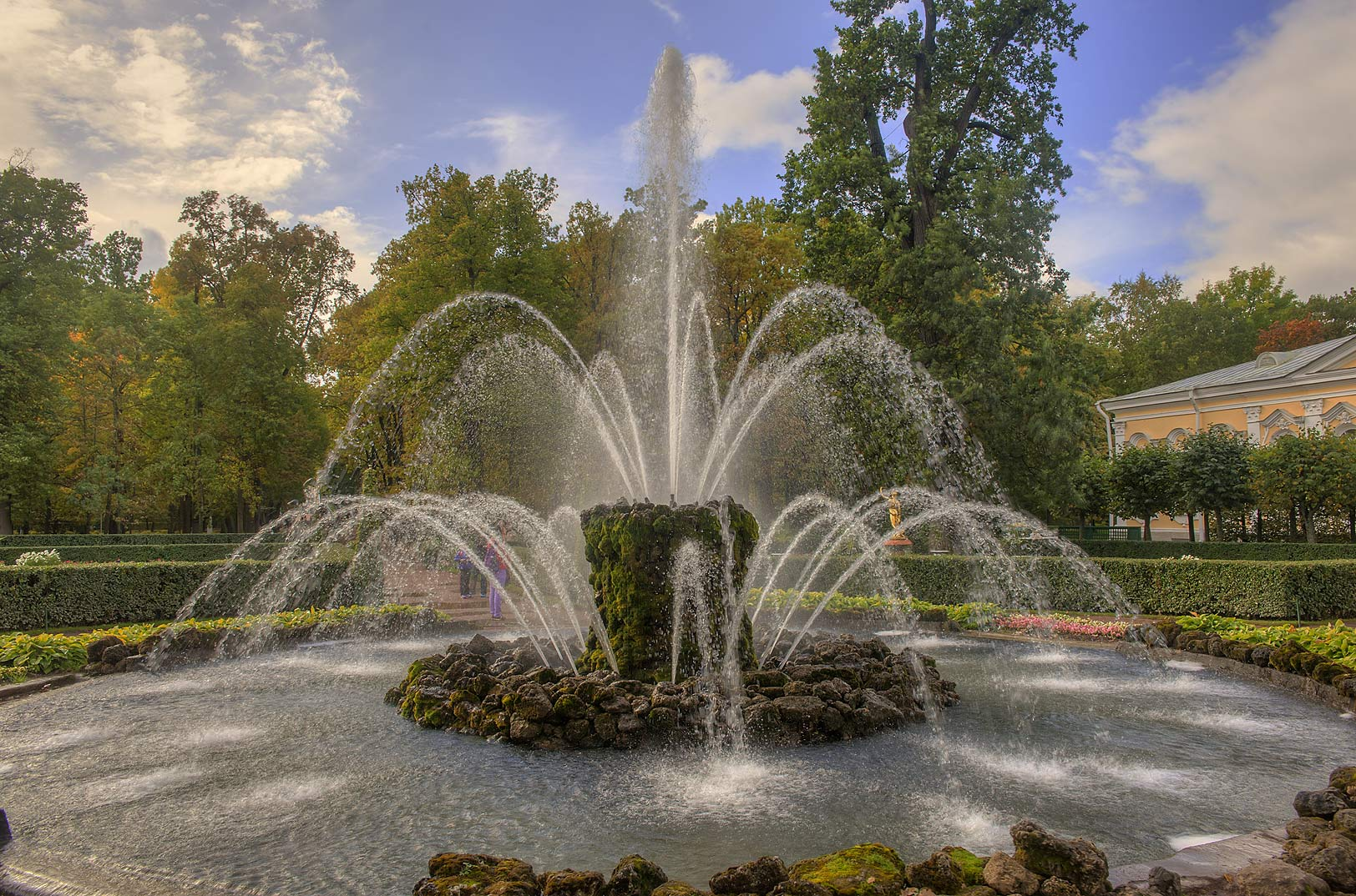 Snop Fountain in Mon Plaisir in Lower Gardens...a suburb of St.Petersburg. Russia