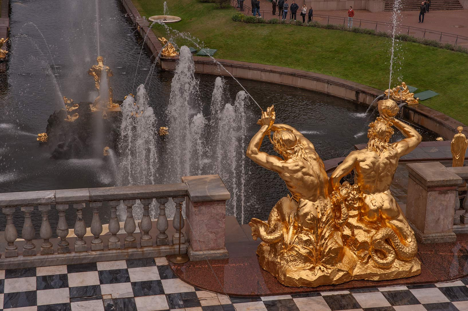 "Fountain ""Najad with Triton"" in Lower Gardens...a suburb of St.Petersburg. Russia"