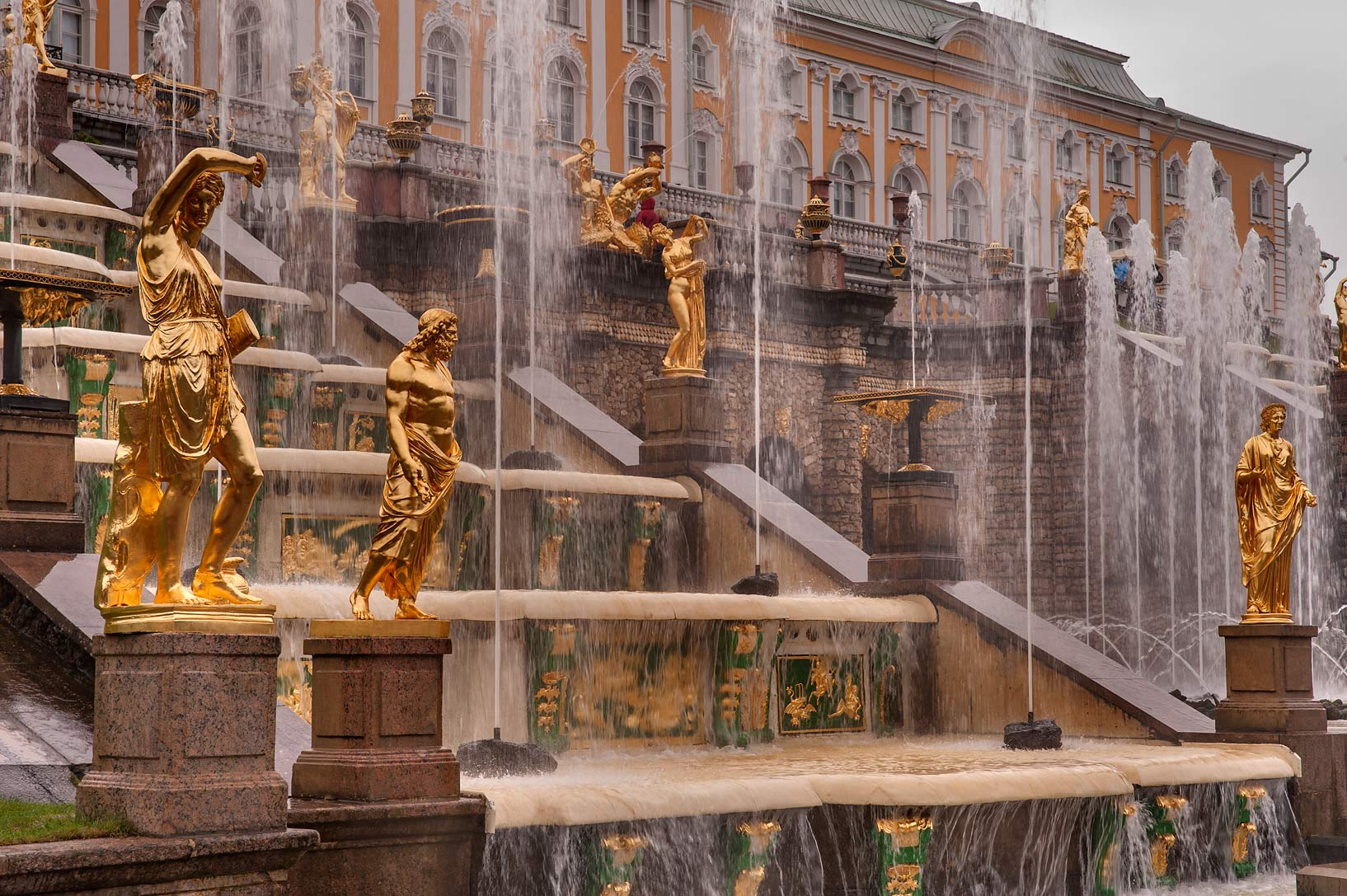 Sireny Fountains of Grand Cascade in Lower...a suburb of St.Petersburg. Russia