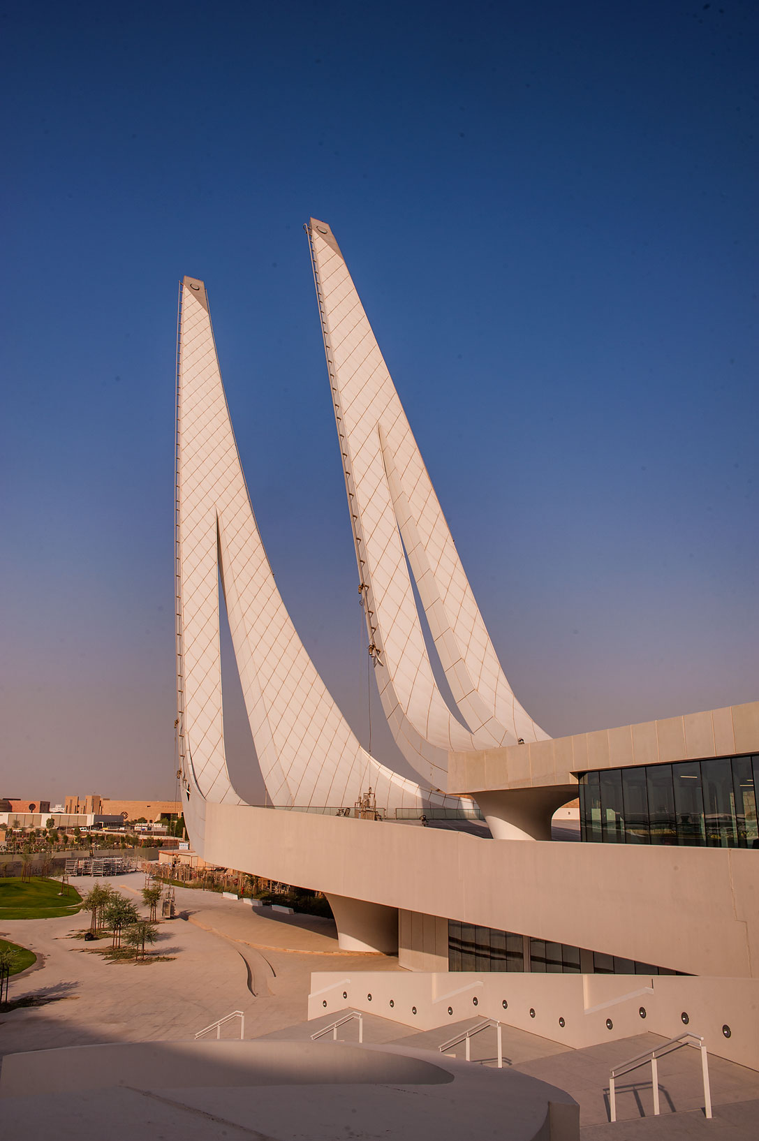 Outdoor courtyard of Education City Mosque. Doha, Qatar