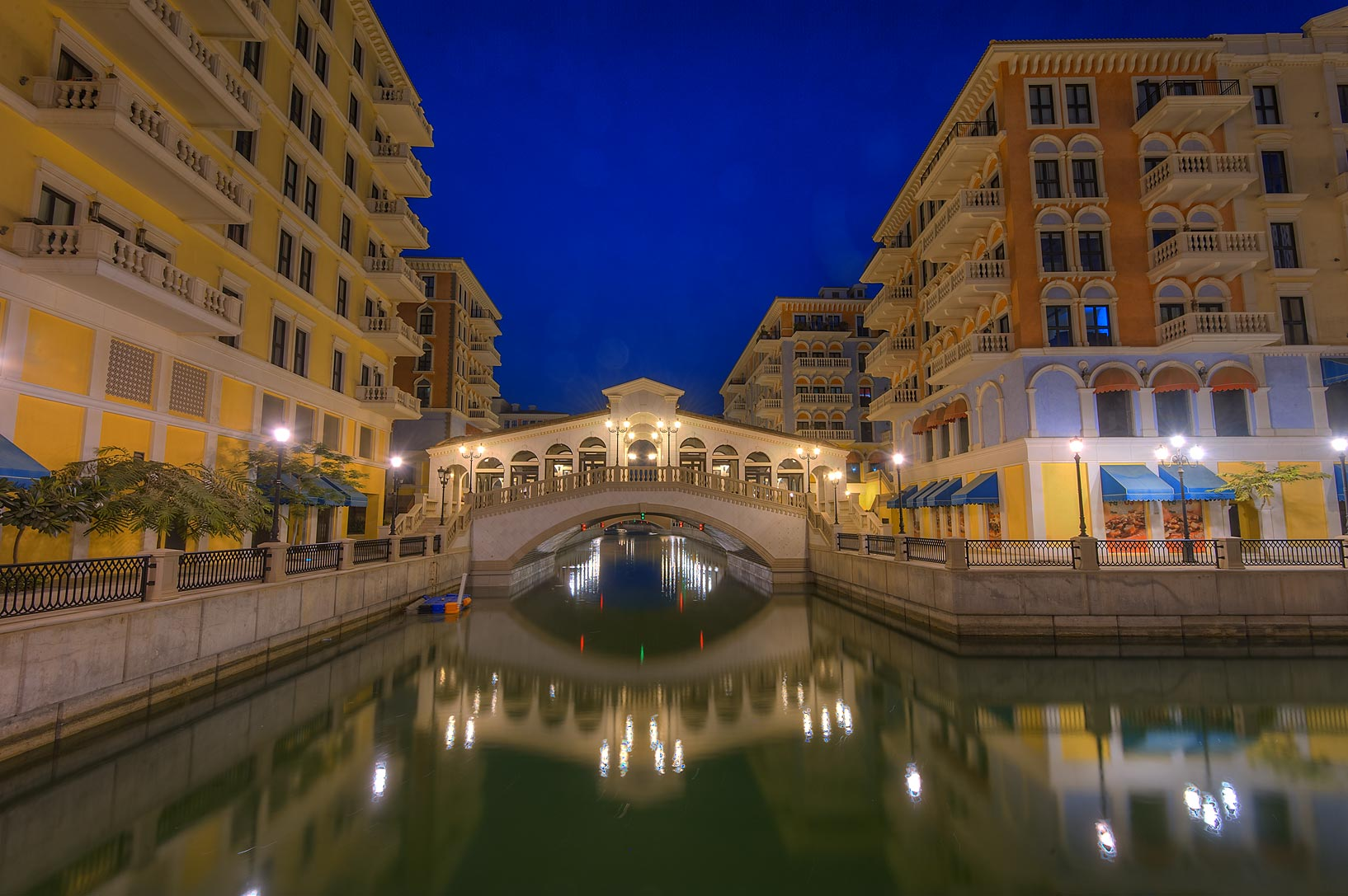 Canal near Murano area of Qanat Quartier...Pearl Development Project. Doha, Qatar
