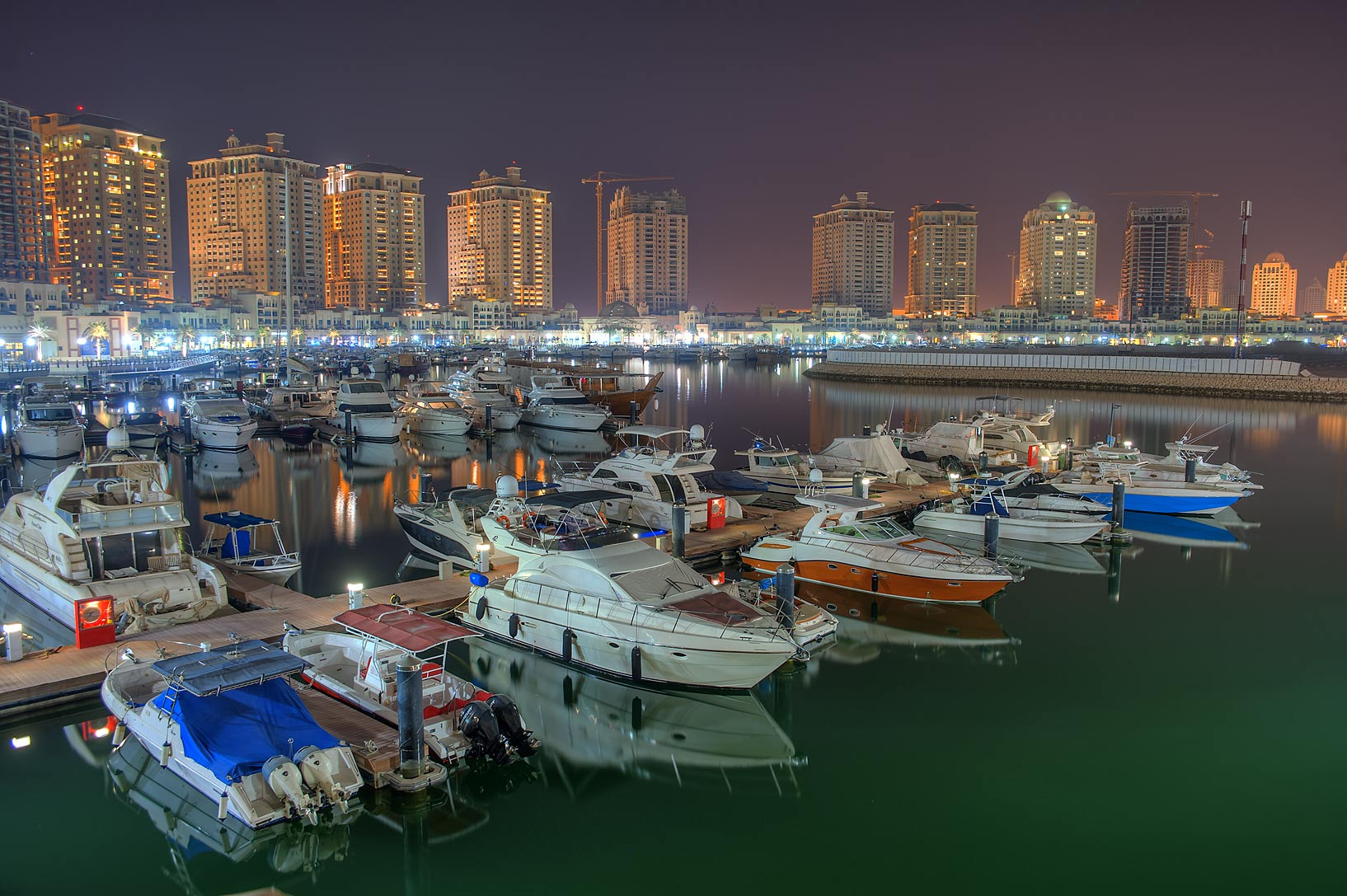 Marina of Porto Arabia in Pearl Qatar Development. Doha, Qatar