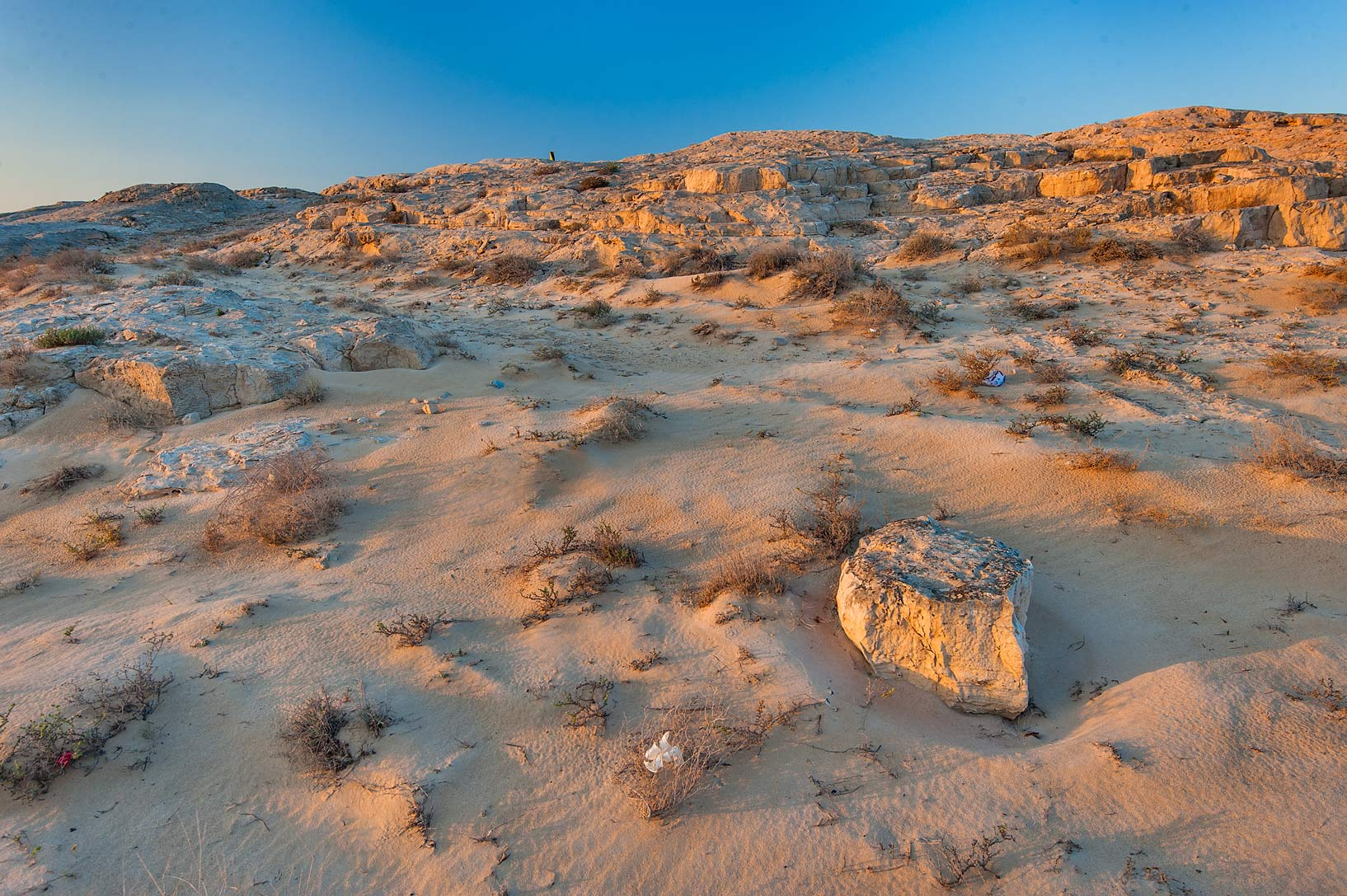 Stone hill of Jebel Fuwairit. North-eastern Qatar