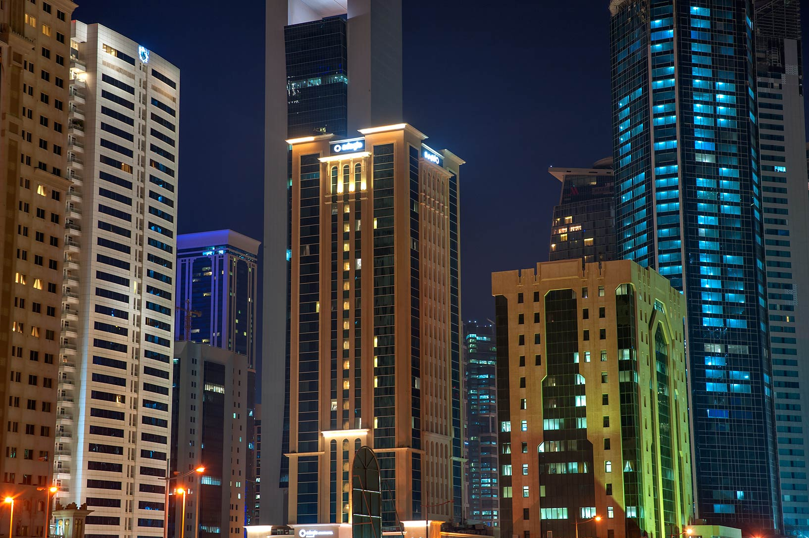 Area of Dunes Hotel in West Bay. Doha, Qatar
