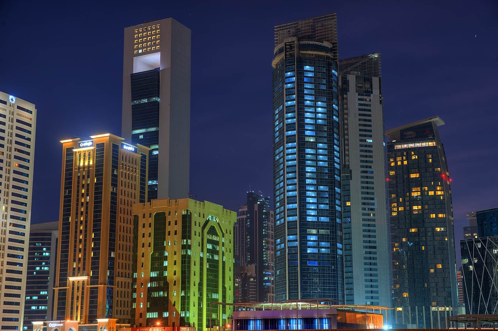 Area of Al Shatt St. in West Bay. Doha, Qatar