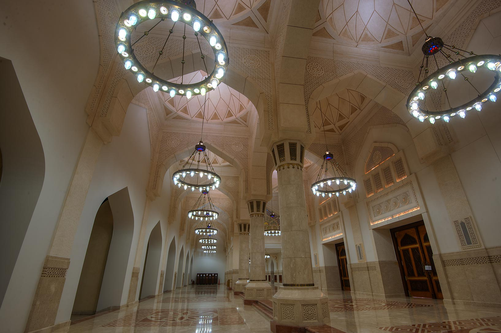Gallery of State Mosque (Sheikh Muhammad Ibn Abdul Wahhab Mosque). Doha, Qatar