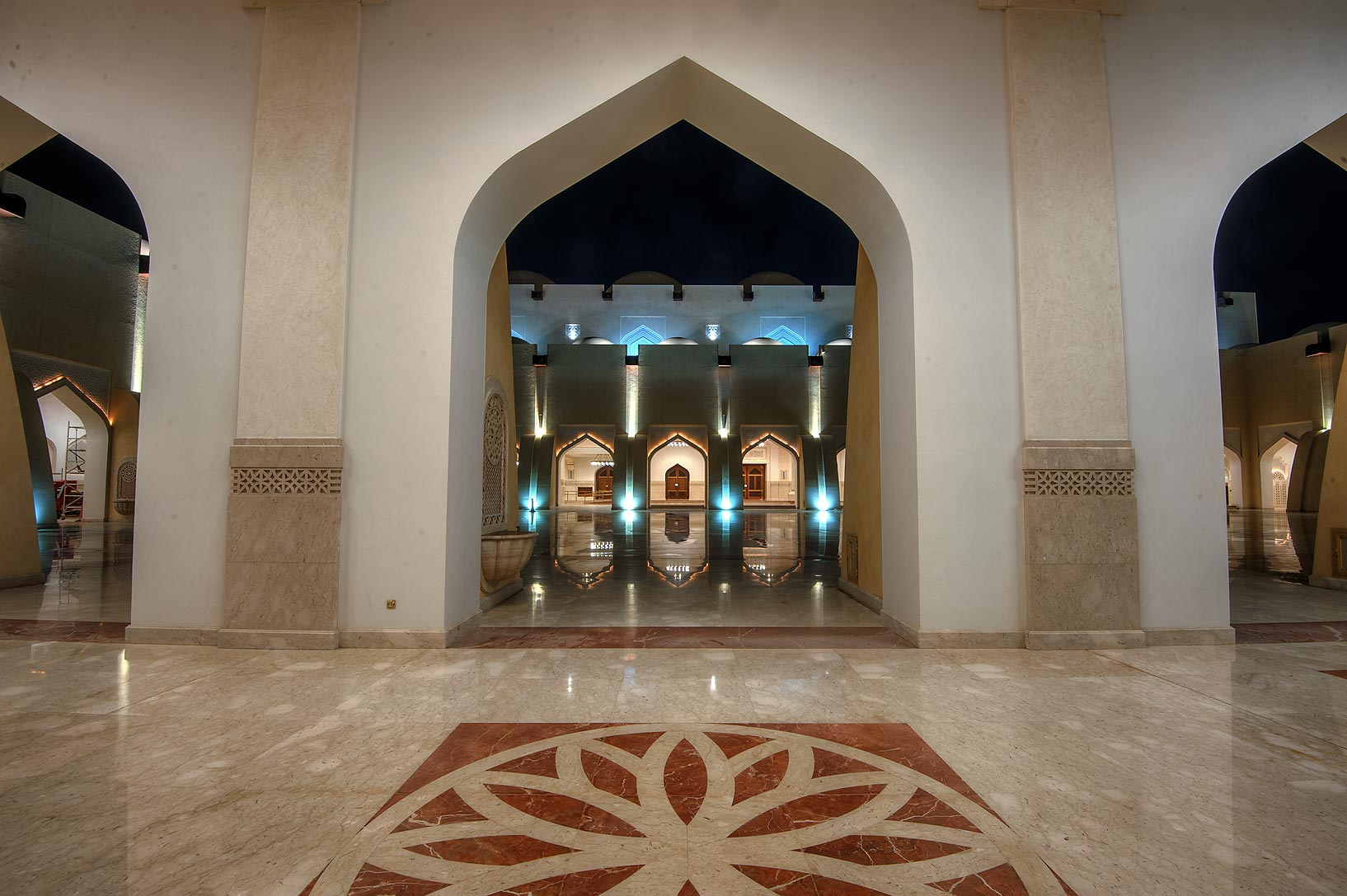 Arched gallery of State Mosque (Sheikh Muhammad Ibn Abdul Wahhab Mosque). Doha, Qatar