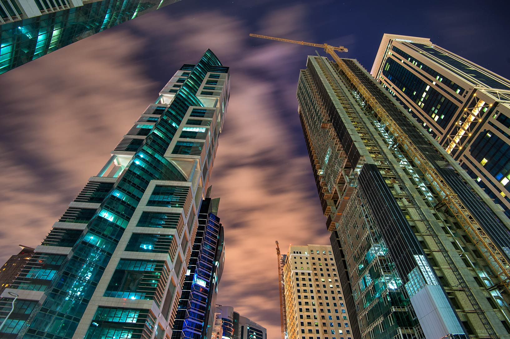 Towers near Kempinski Hotel on Conference Center...City Center in West Bay. Doha, Qatar