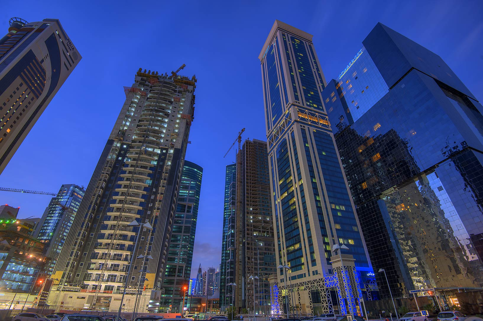 Kempinski and Somerset hotels in West Bay. Doha, Qatar