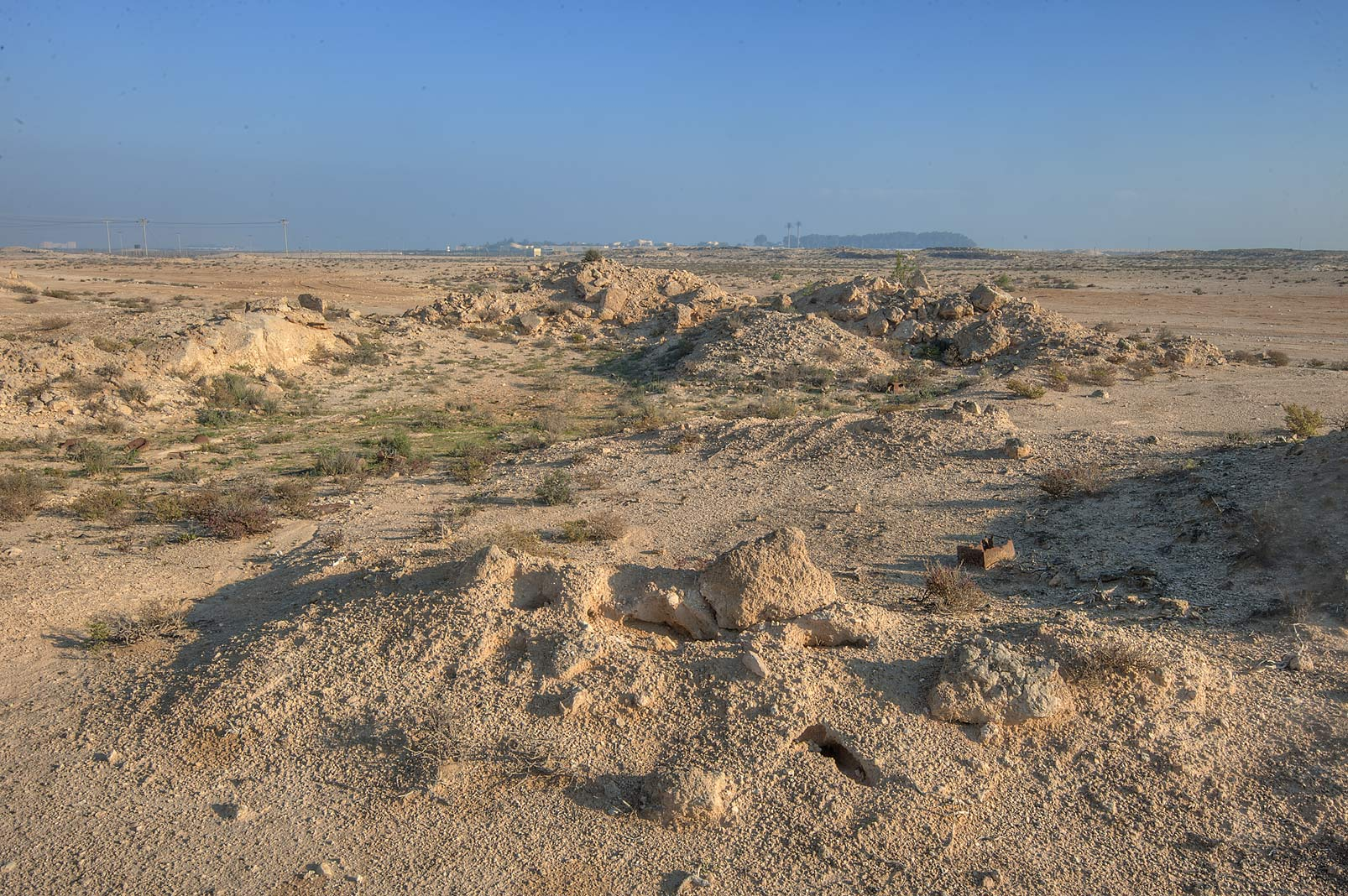 Ant mounds behind Jabal Al Jassasiya near Umm Al Gharaneej, on north-eastern coast. Qatar
