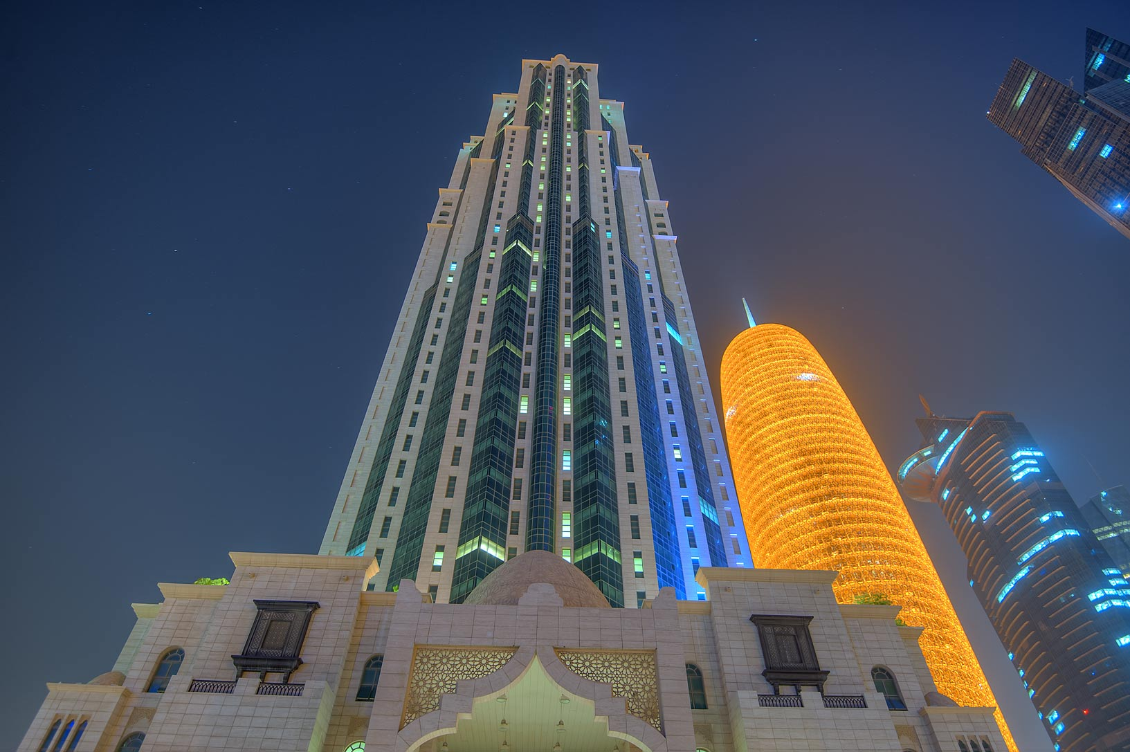 Al Jassimiya Tower in West Bay. Doha, Qatar