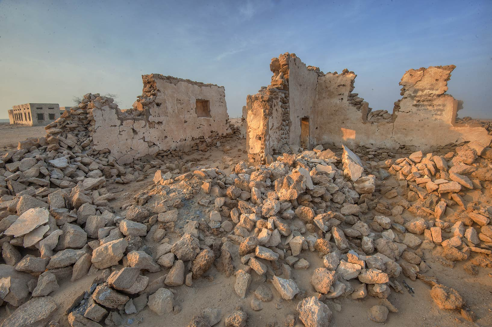 Ruins of girl's section of a school in old...eastern coast, Ash Shamal area. Qatar