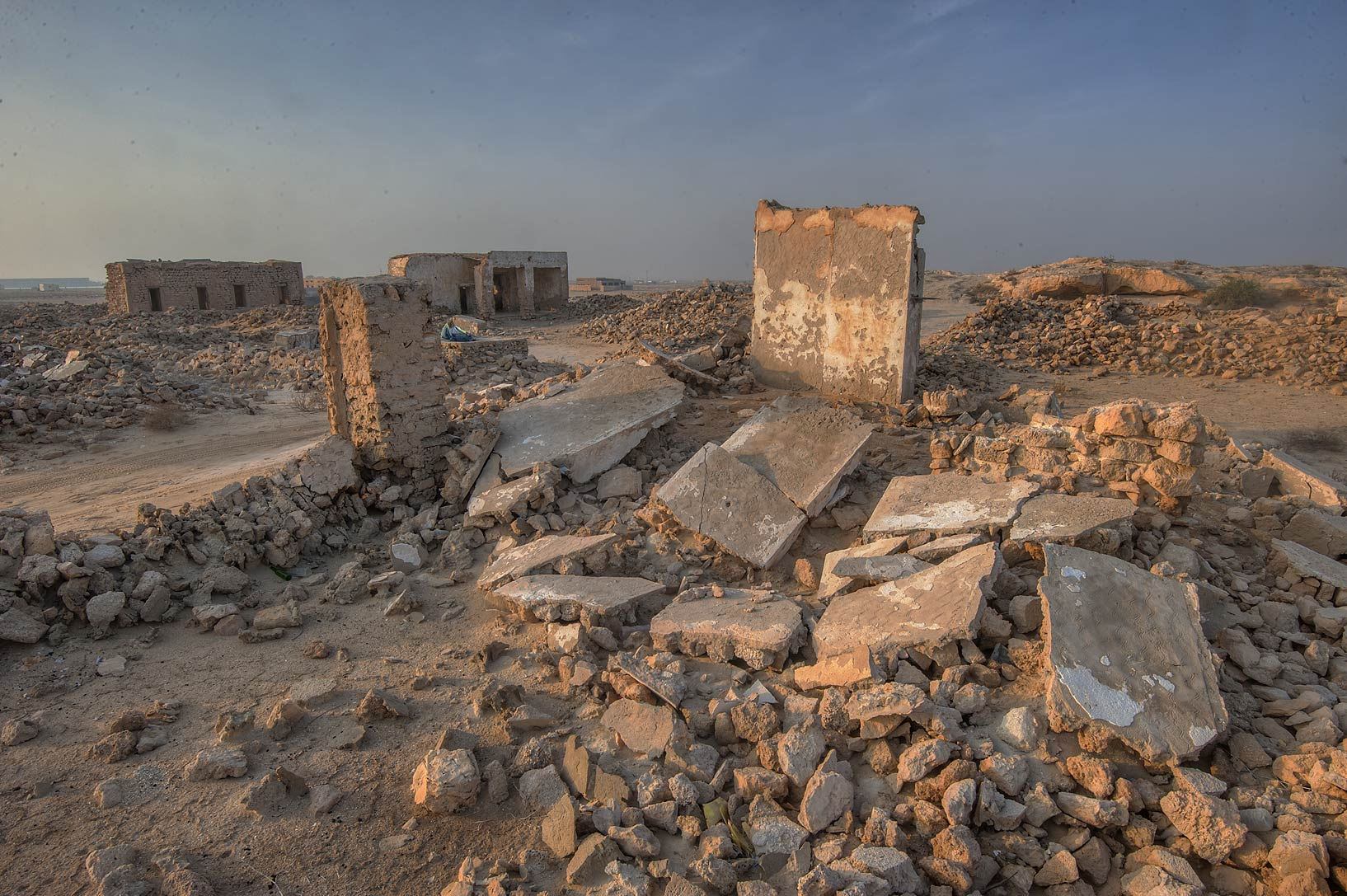 Pile of stones in old fishing village (ghost town...eastern coast, Ash Shamal area. Qatar
