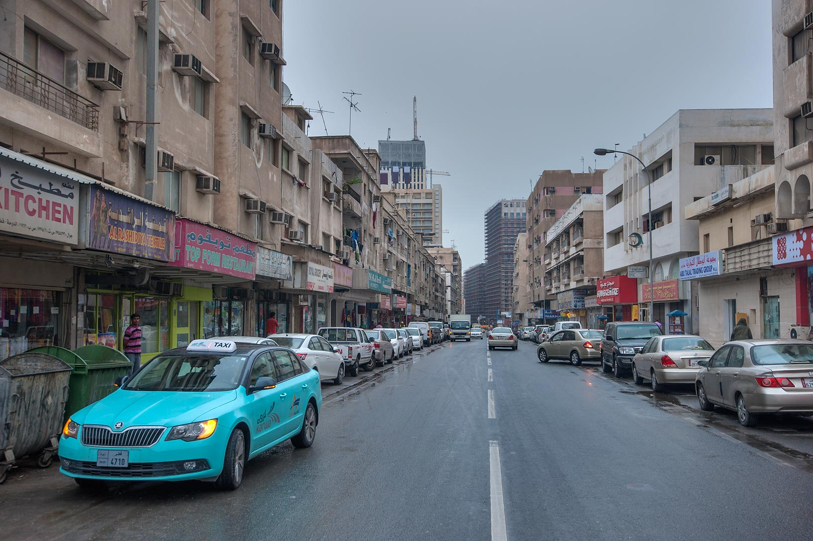 Abdullah Bin Thani St. in Musheirib neighborhood. Doha, Qatar