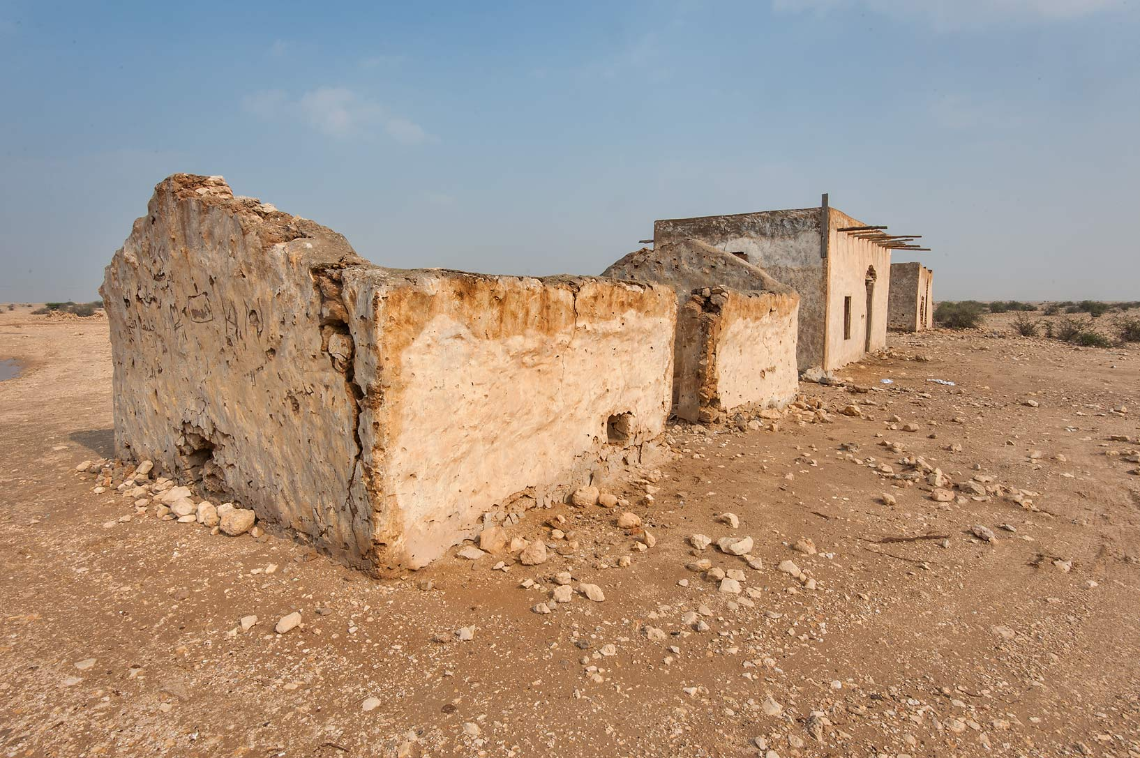 Stone houses of Nasser bin Mohamed bin Mohammed...Rd. north from Zubara. Northern Qatar