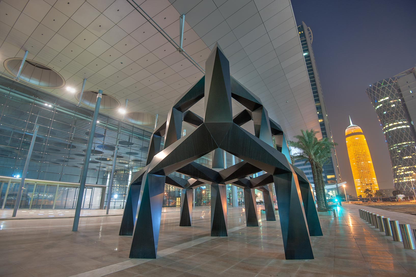 Sculpture Smoke by Tony Smith at the entrance of...near City Center mall. Doha, Qatar