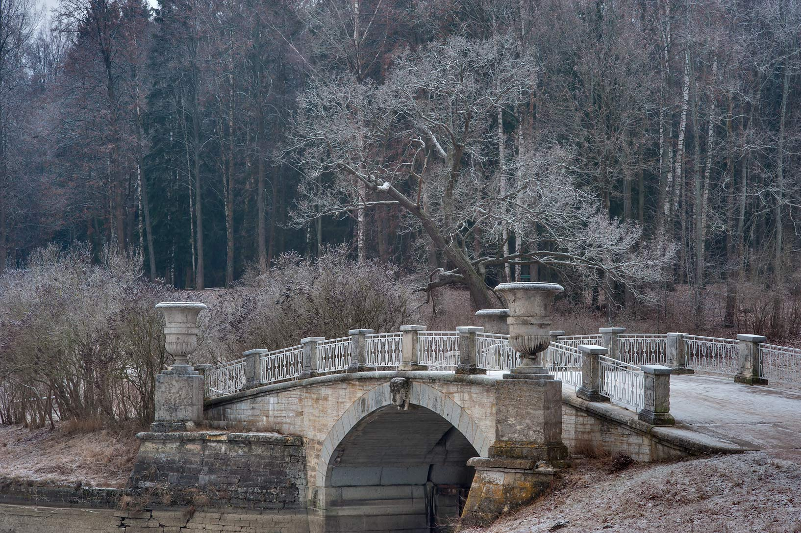 Bridge of Eleninskaya Alley in Pavlovsk Park. Pavlovsk, suburb of St.Petersburg, Russia