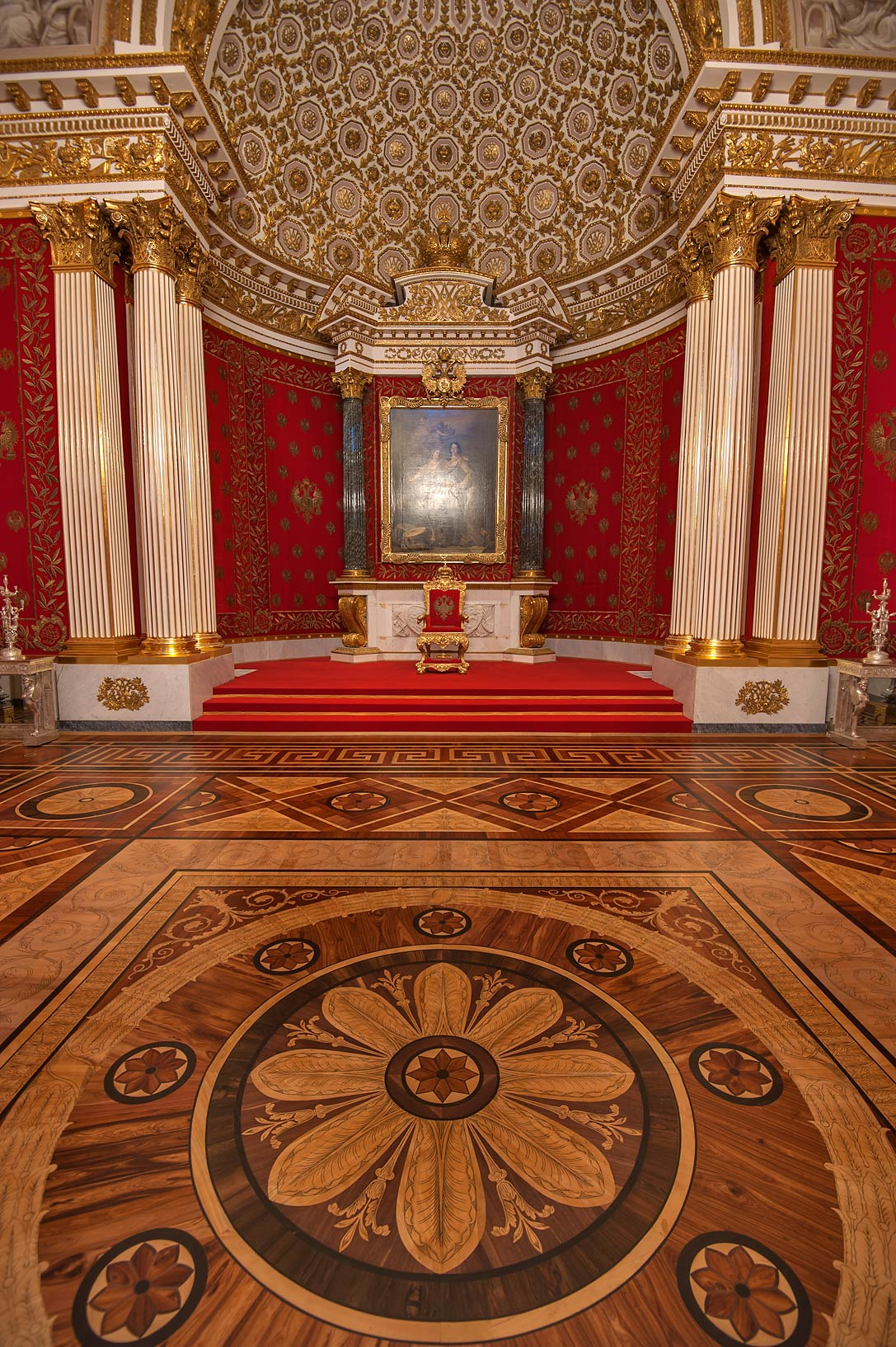 Crimson Room in Hermitage Museum. St.Petersburg, Russia