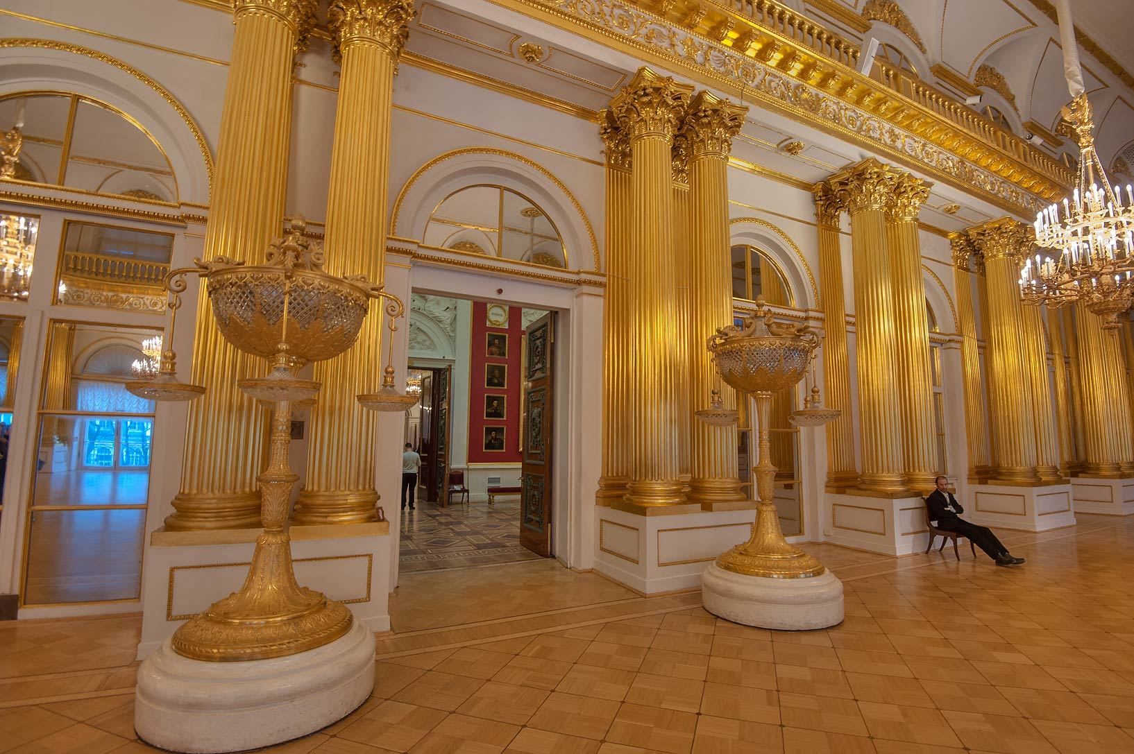 Torches of Armorial Hall (Gerbovy Zal, Emblem...Museum. St.Petersburg, Russia