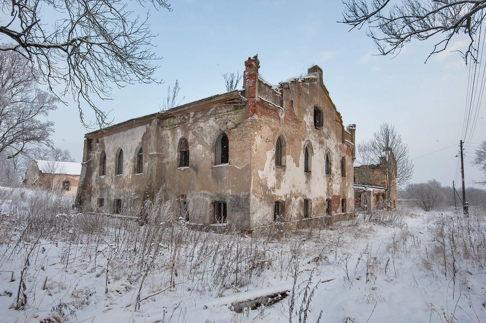 Stone house in estate of Ober Kukhmister Iogann...Region of Leningrad District, Russia