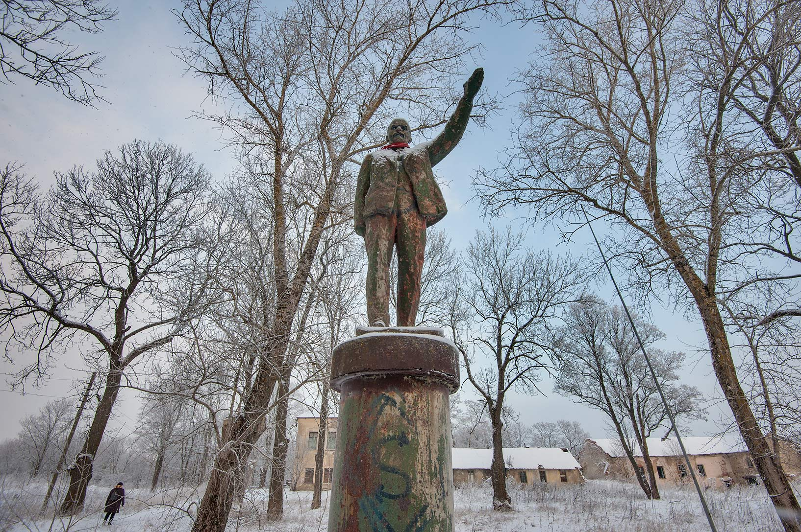 Monument of Russian communist revolutionary...Region of Leningrad District, Russia