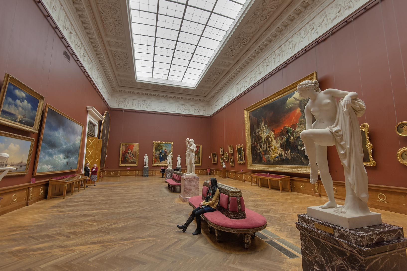 Karl Briullov Hall in Russian Museum. St.Petersburg, Russia