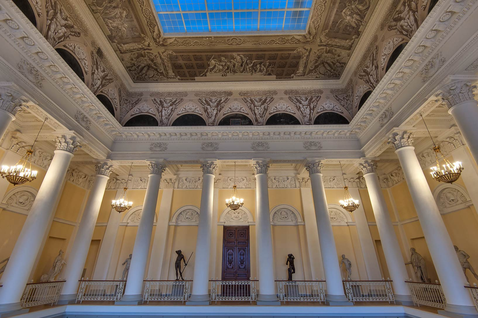 Entrance gallery in Russian Museum. St.Petersburg, Russia