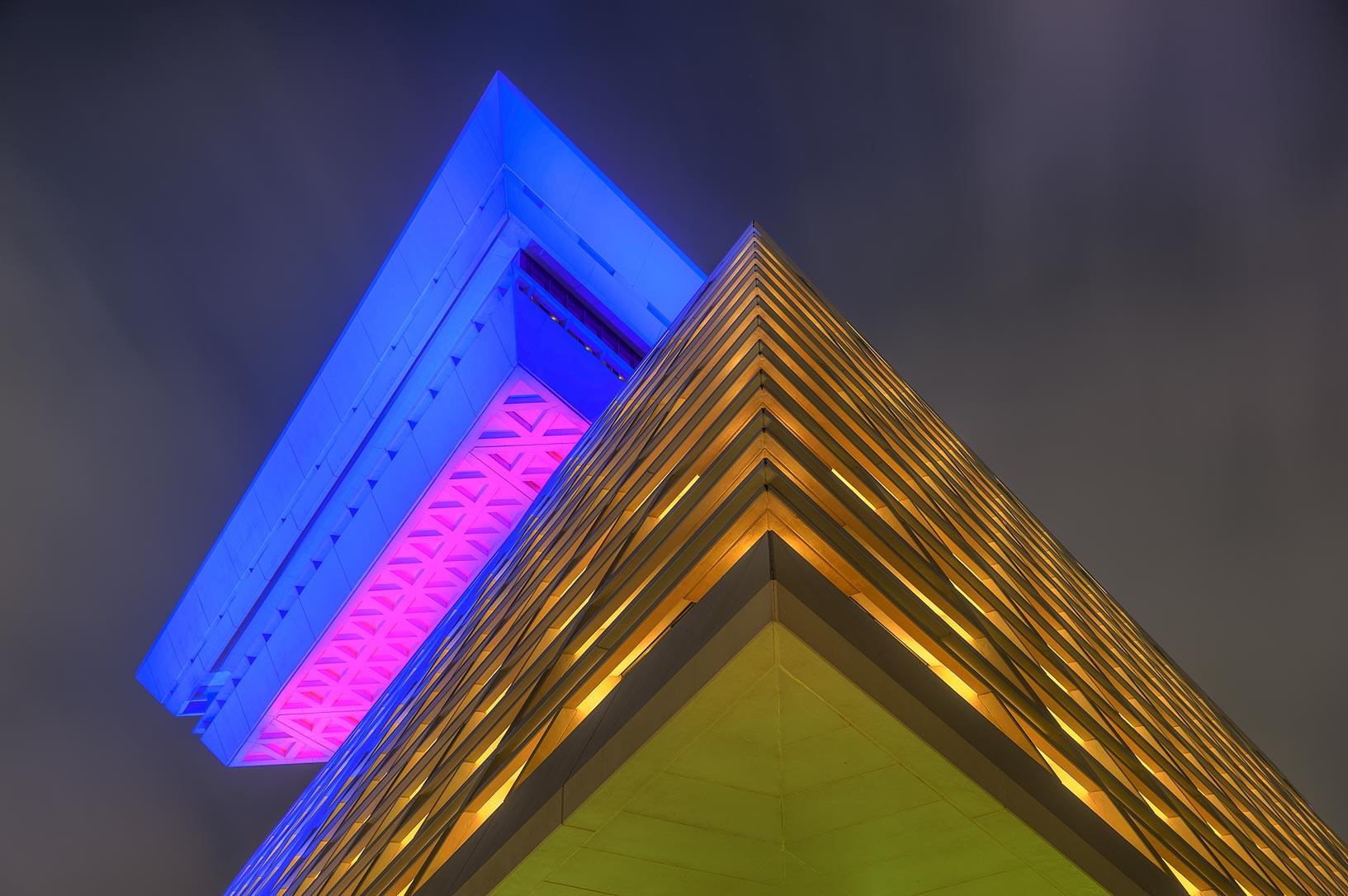 Corner of Sheraton Hotel at evening. Doha, Qatar