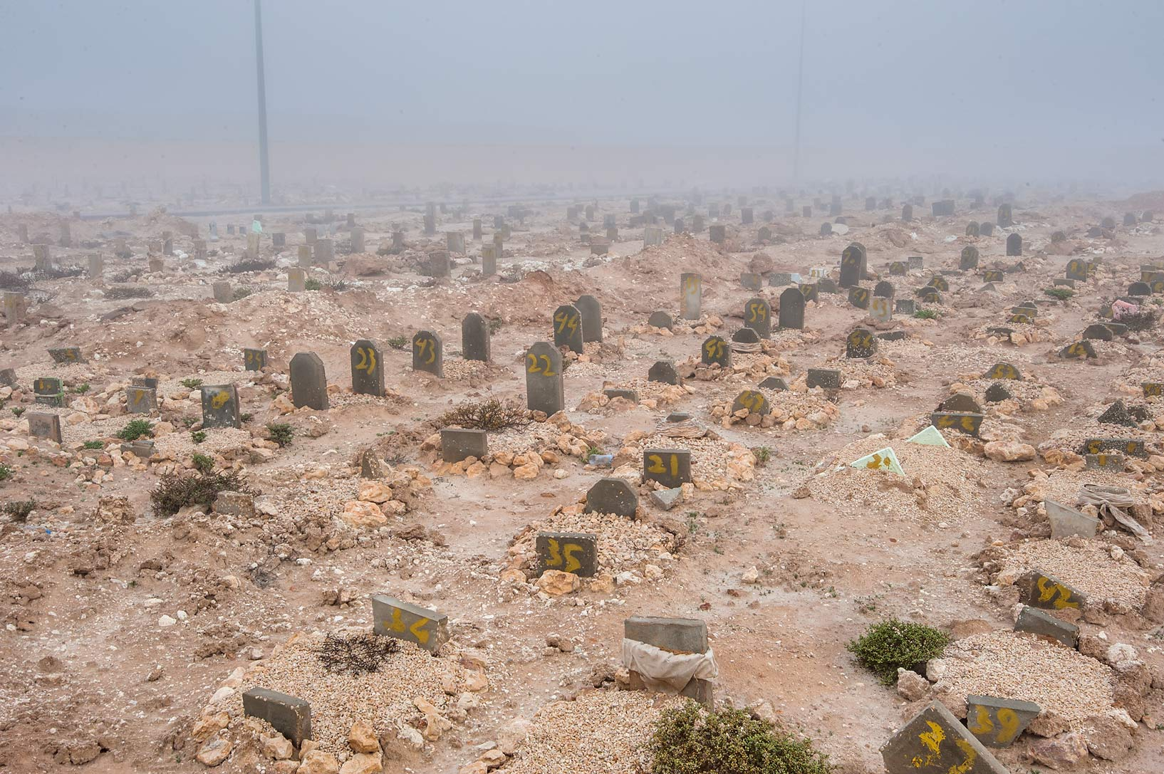 Tomb field in Al Khor Cemetery. North from Al Khor, Qatar