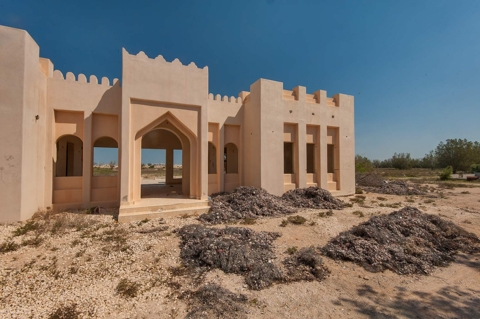 Stone house in area of Ras Laffan farms. North-eastern Qatar
