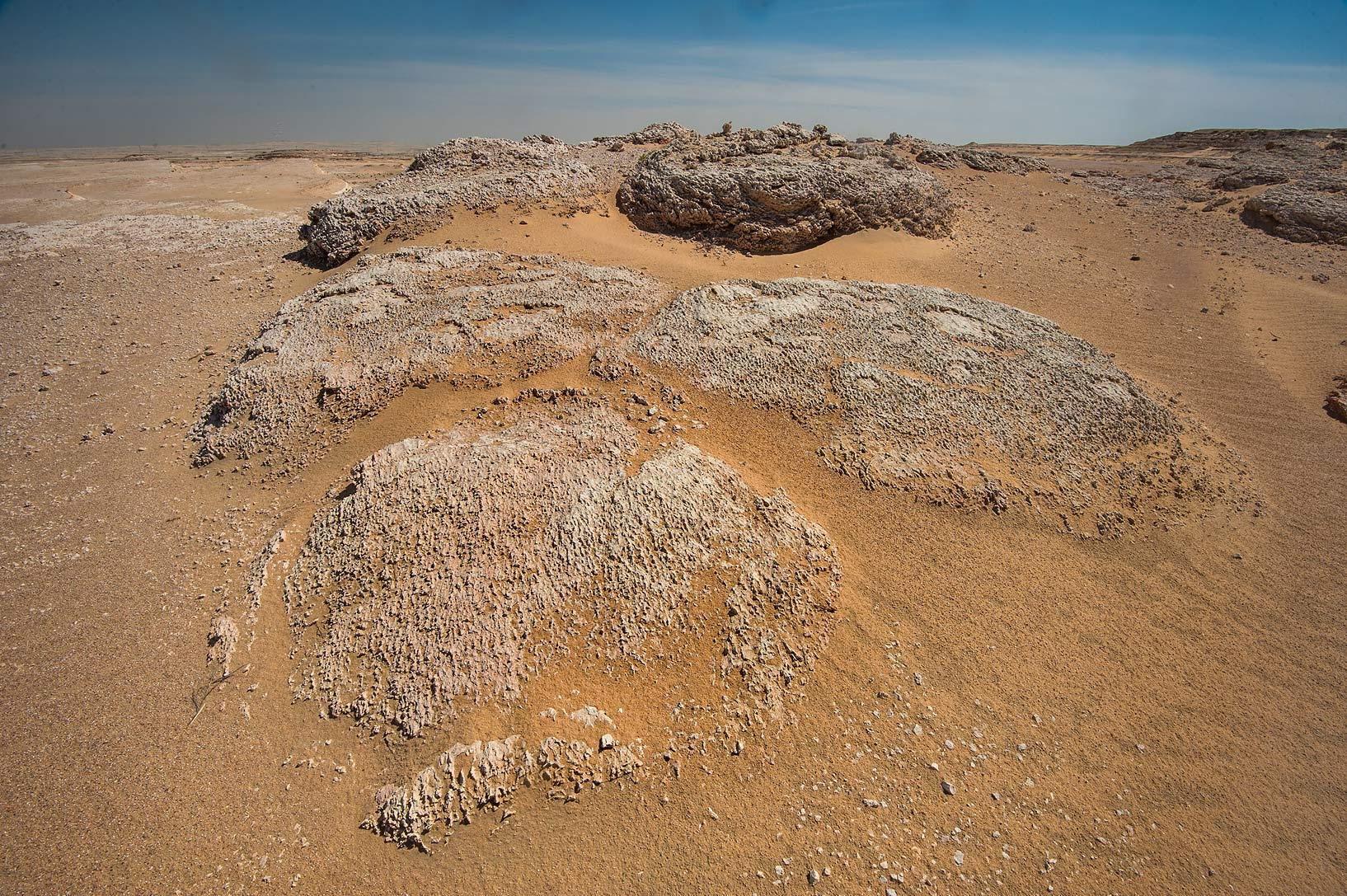 Domed structure of fossilized stromatolites...Jebel Al-Nakhsh in south-western Qatar