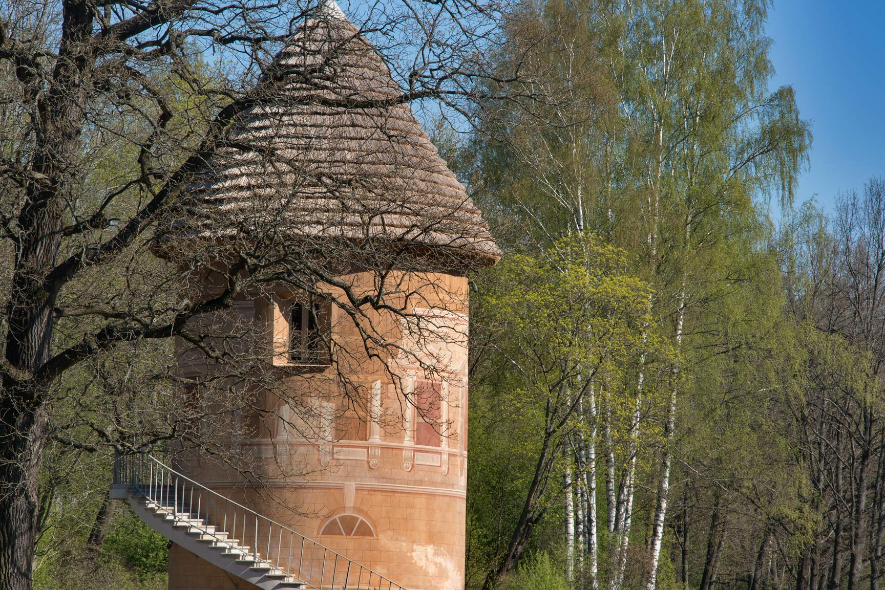 Pil Bashnya Tower in Pavlovsk Park. Pavlovsk, suburb of St.Petersburg, Russia