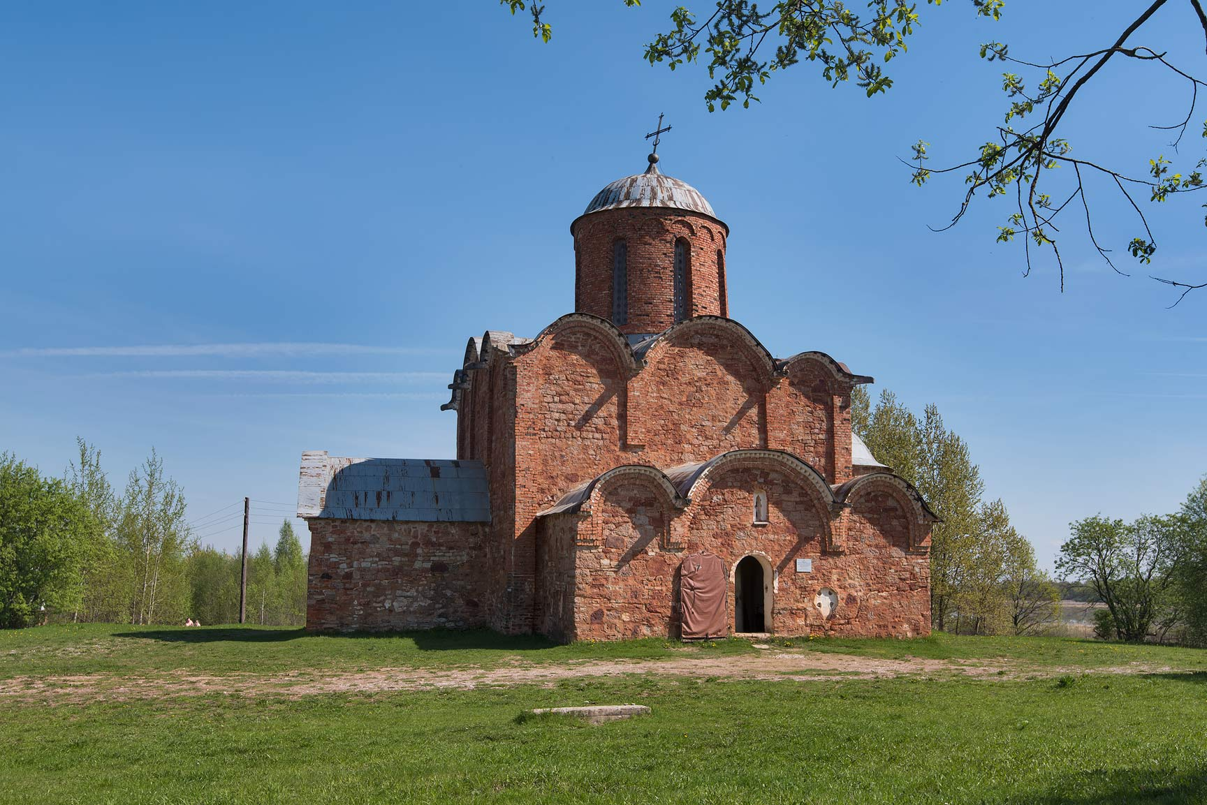 Cathedral of Saviour Transfiguration on Kovaliovo. Novgorod, Russia