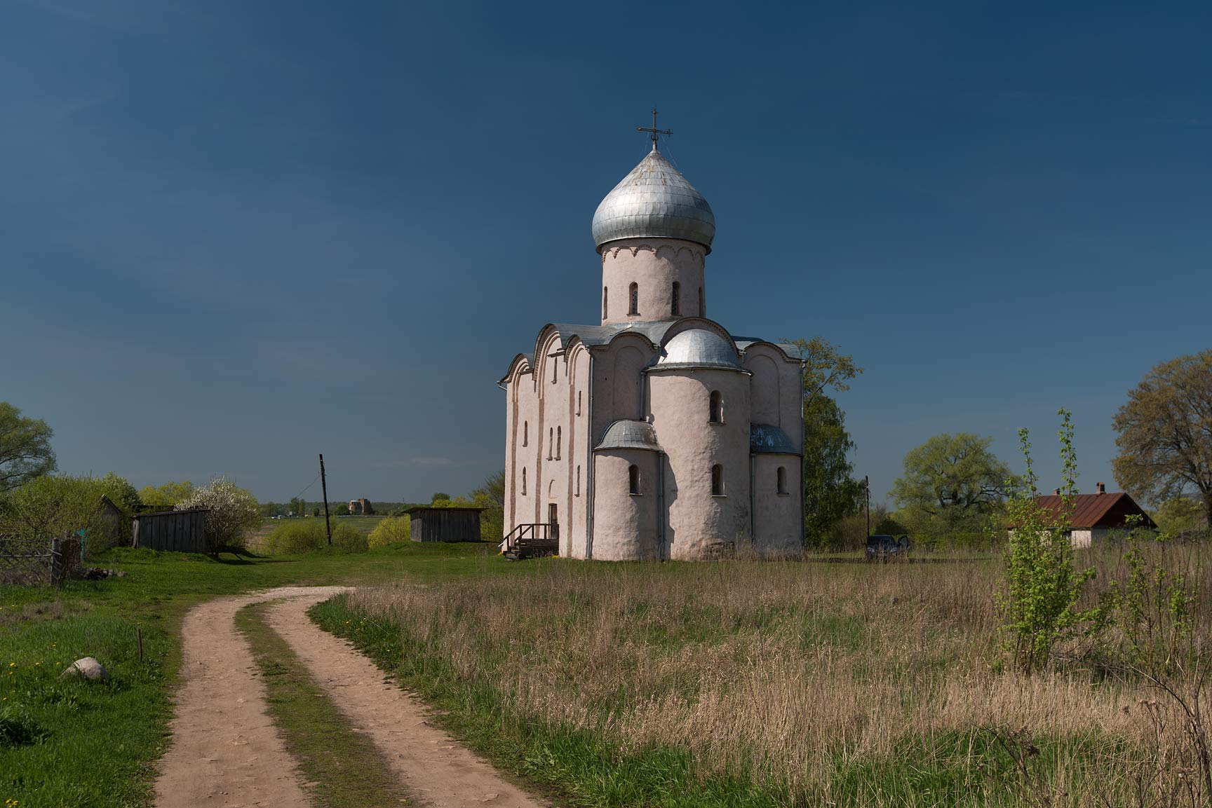 Cathedral of Saviour Transfiguration on Nereditsa. Novgorod, Russia