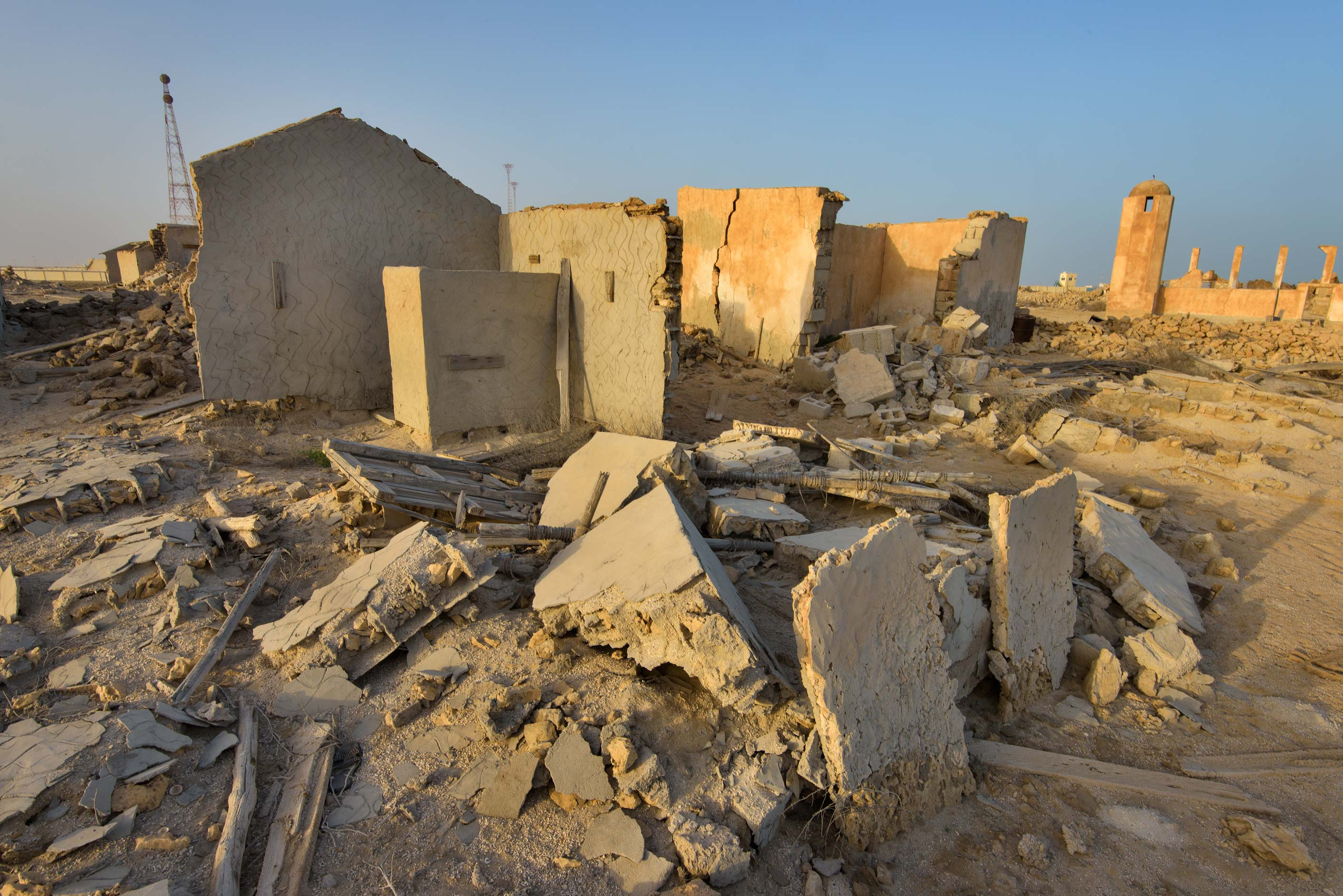 Ruins of a house in old fishing village (ghost...from Lekhwair on northern coast. Qatar