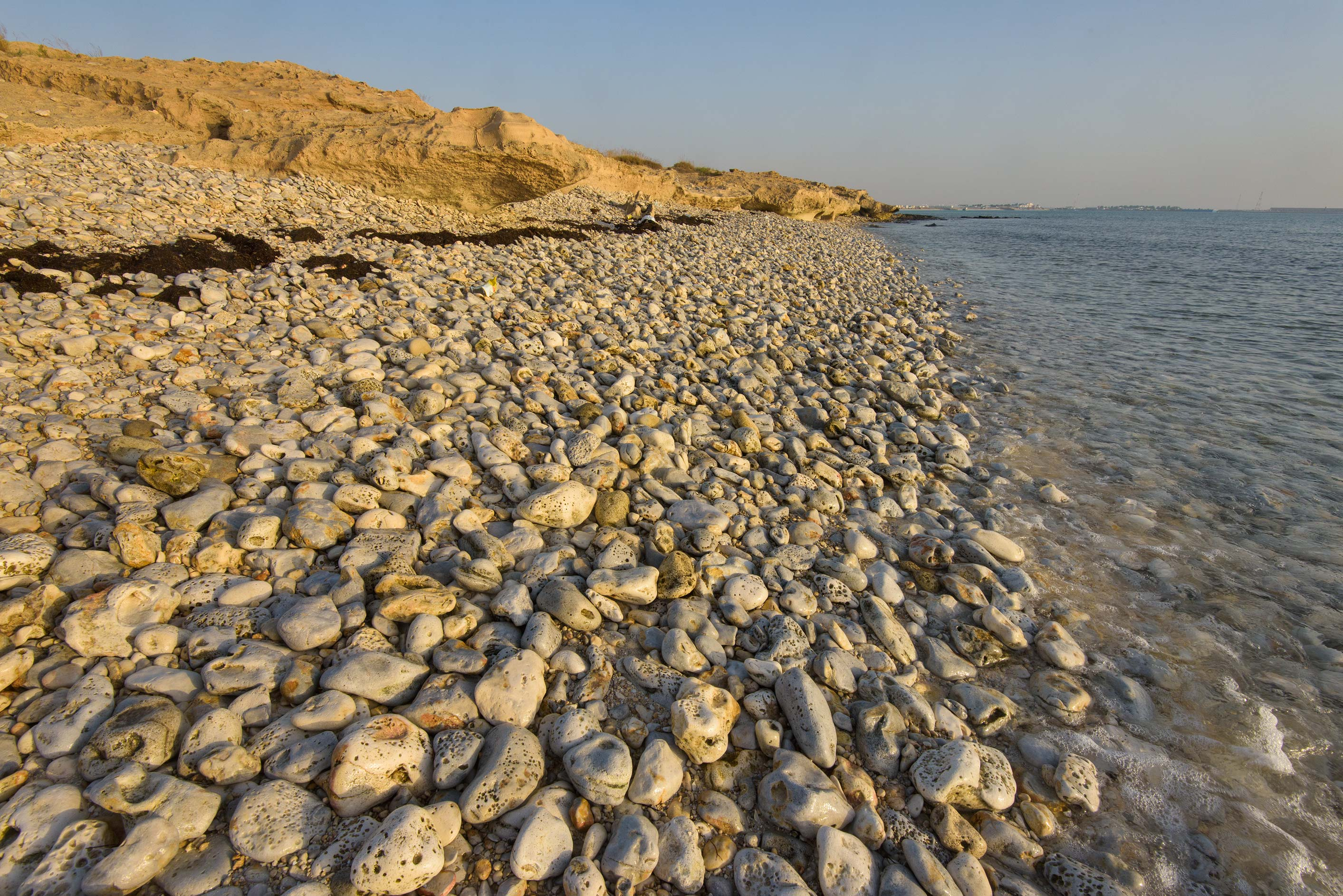 Fuwairit - Doha, Qatar  - Rocky beach of Jebel Fuwairit. Qatar