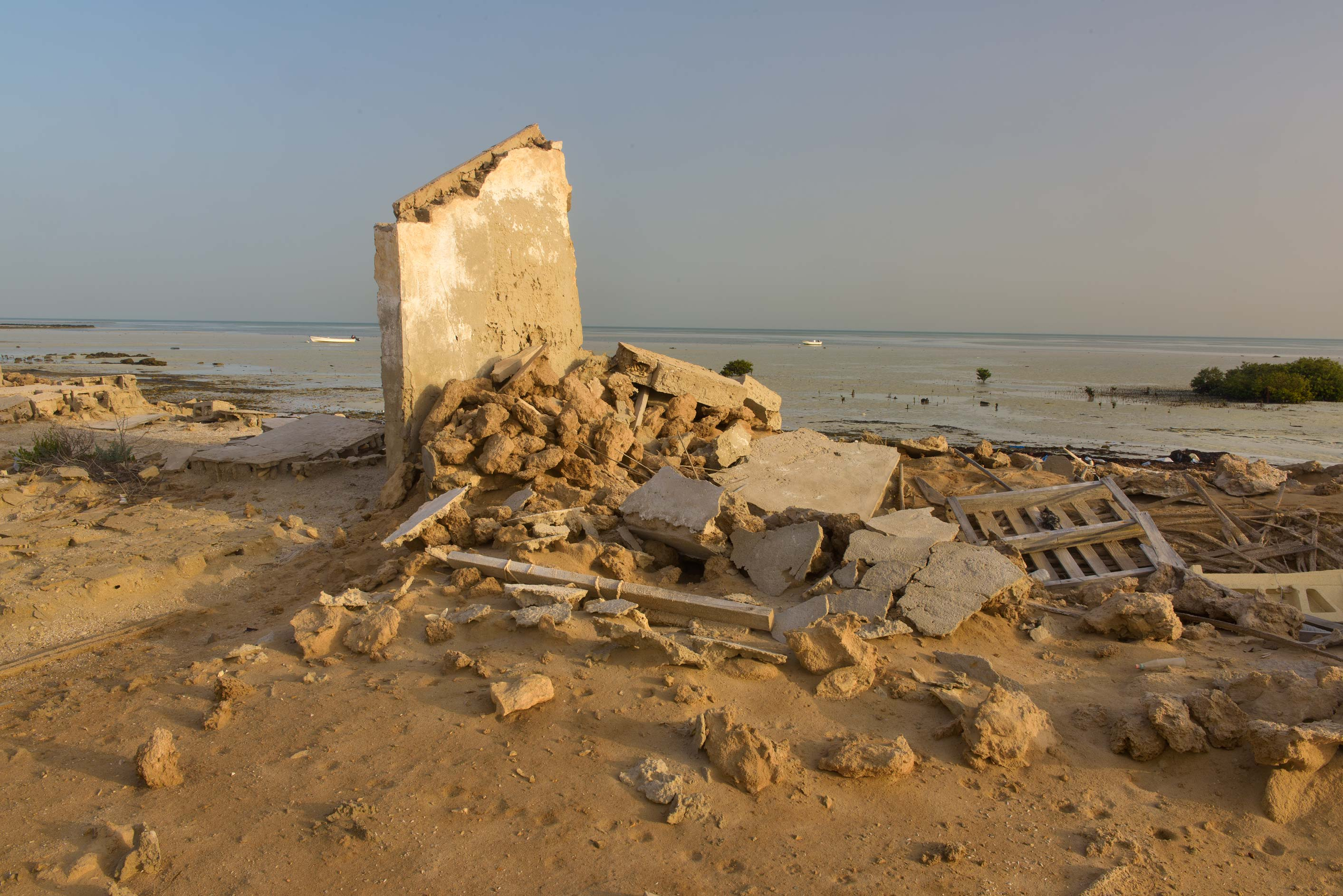 Remains of a house in a village of Al Areesh (Arish). Northern Qatar