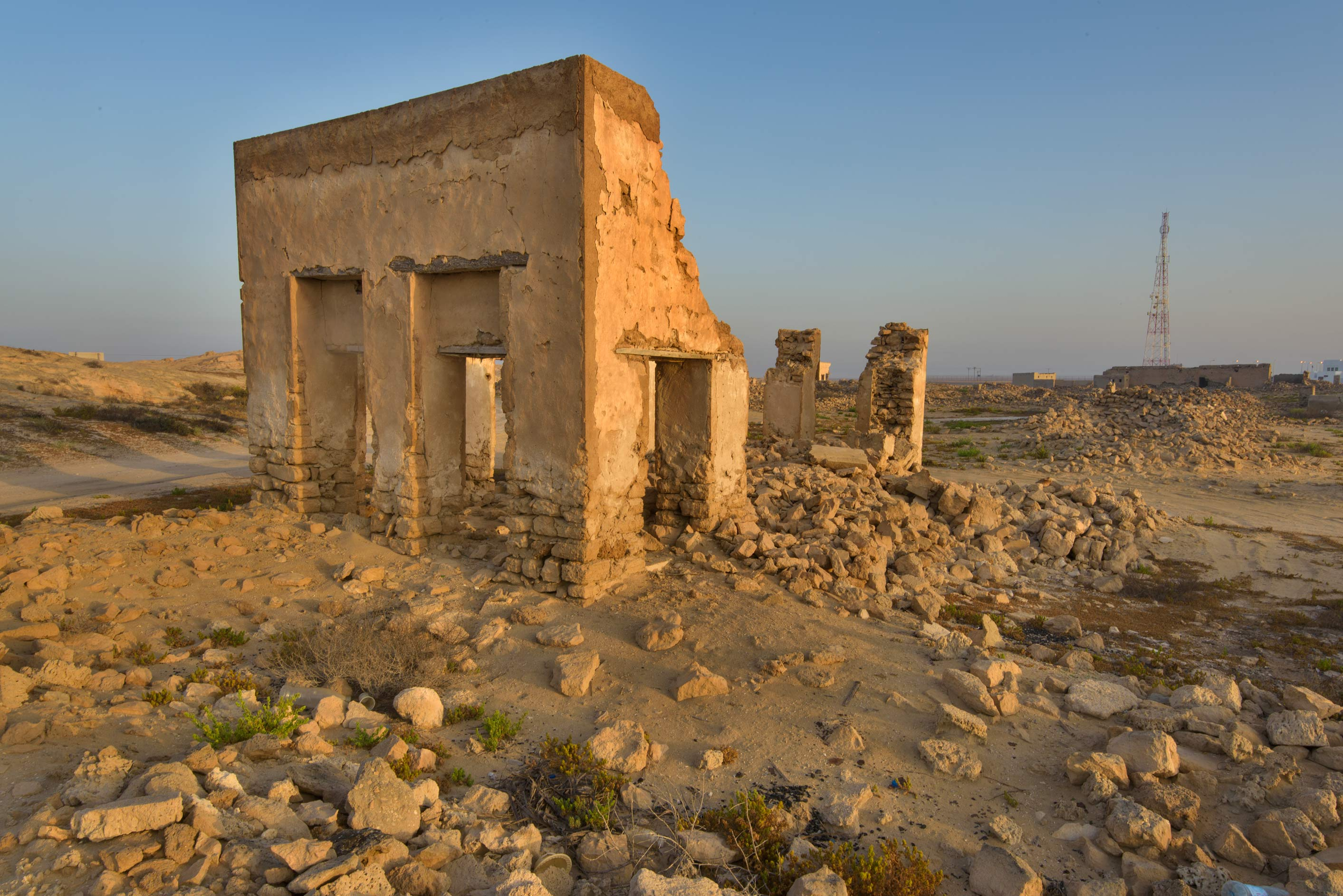 Stone house in old fishing village (ghost town...eastern coast, Ash Shamal area. Qatar