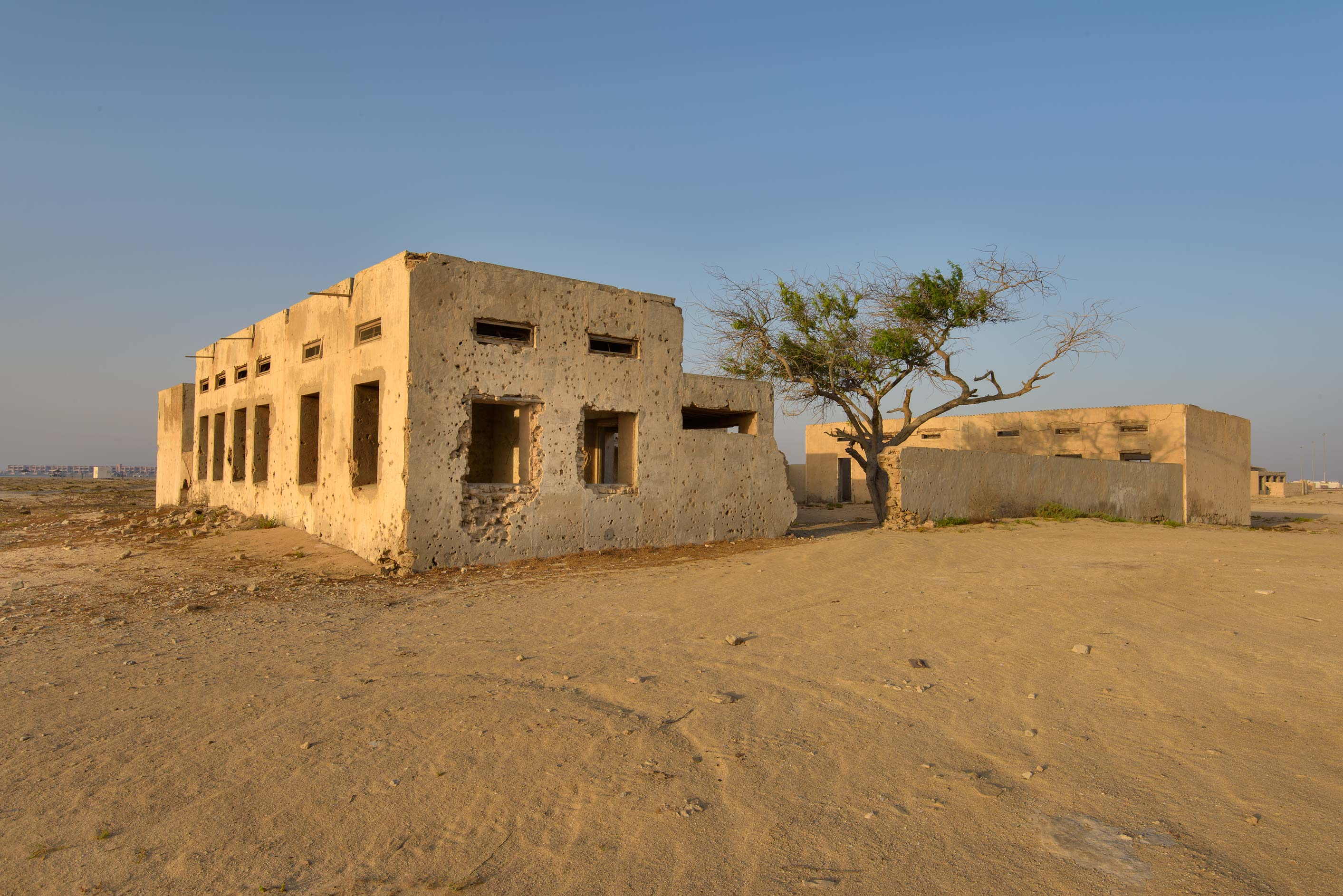 A school in old fishing village (ghost town) of...eastern coast, Ash Shamal area. Qatar