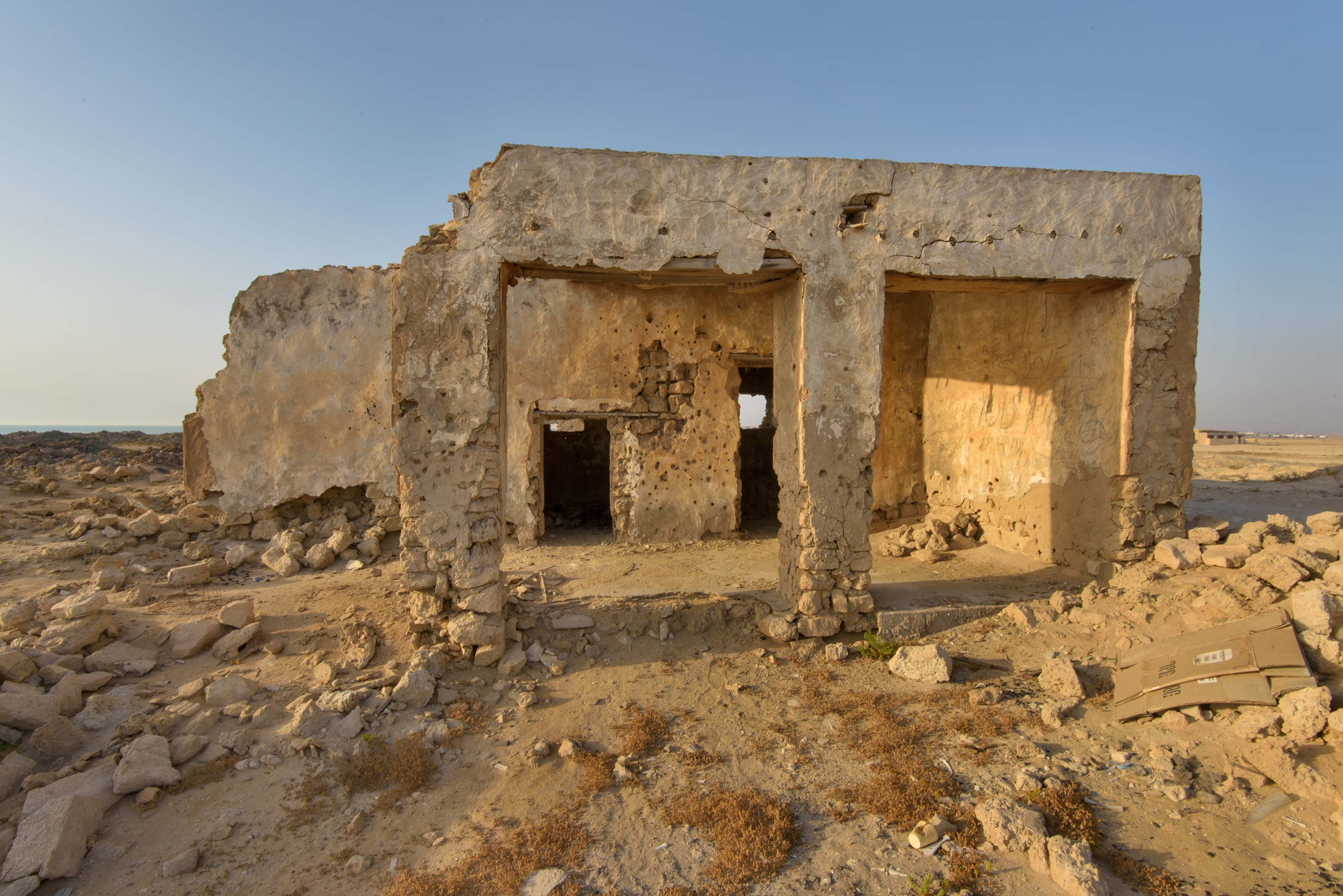 Arched building in old fishing village (ghost...eastern coast, Ash Shamal area. Qatar