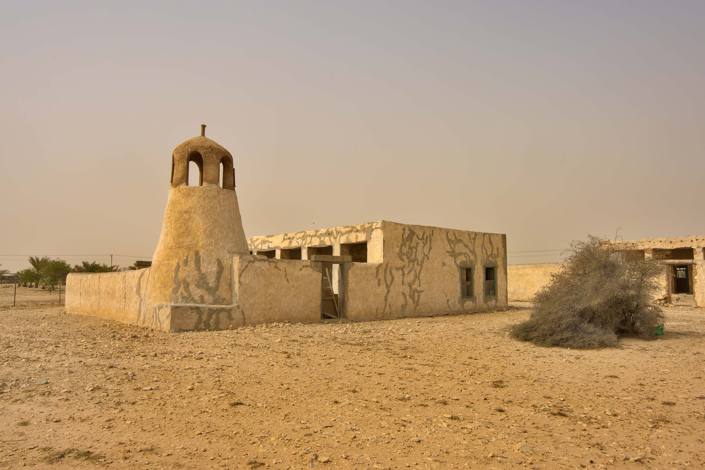 Old mosque in Mazraat Al Saalouiya near a road to...western coast, Ash Shamal area. Qatar
