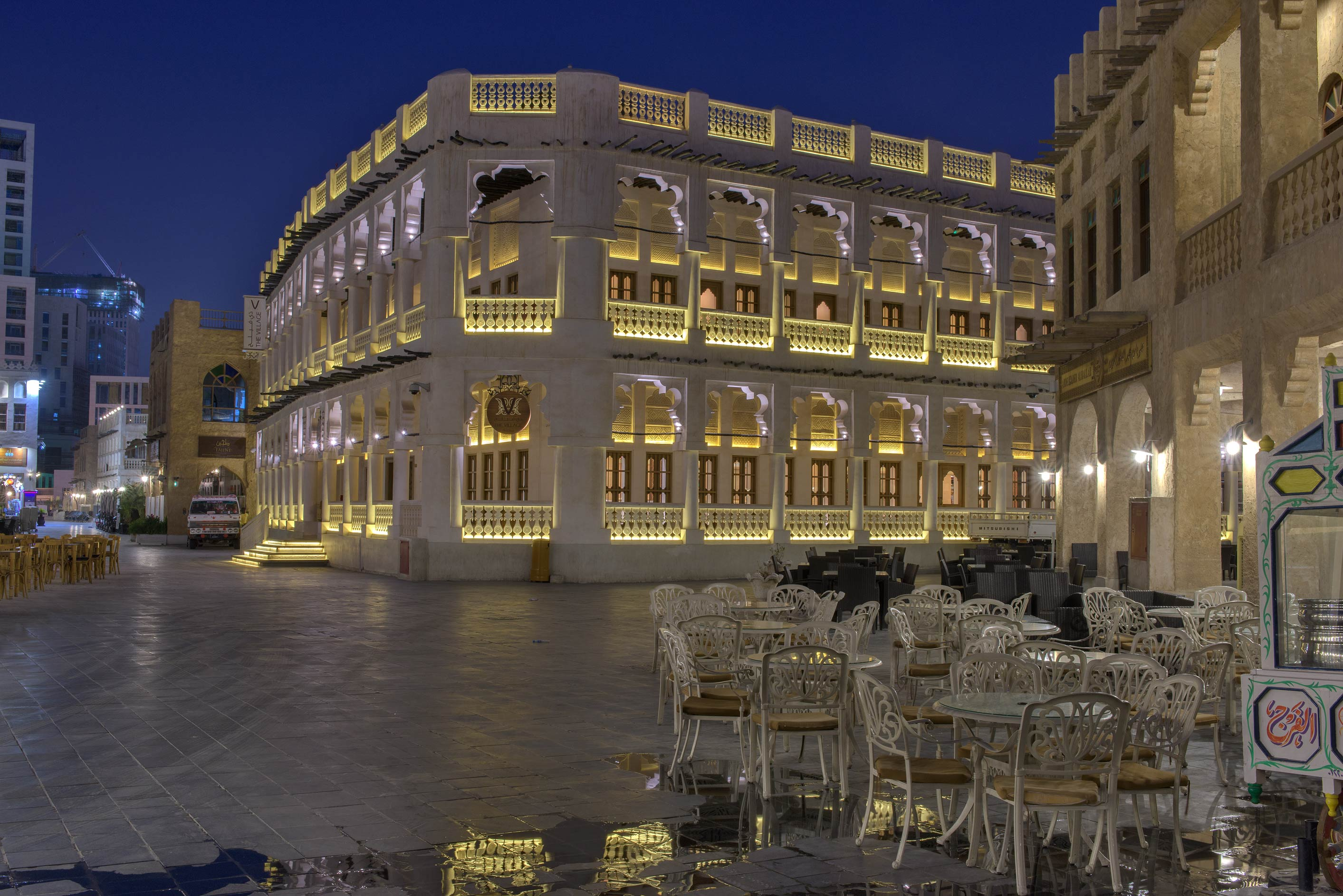 The Village restaurant in Souq Waqif. Doha, Qatar