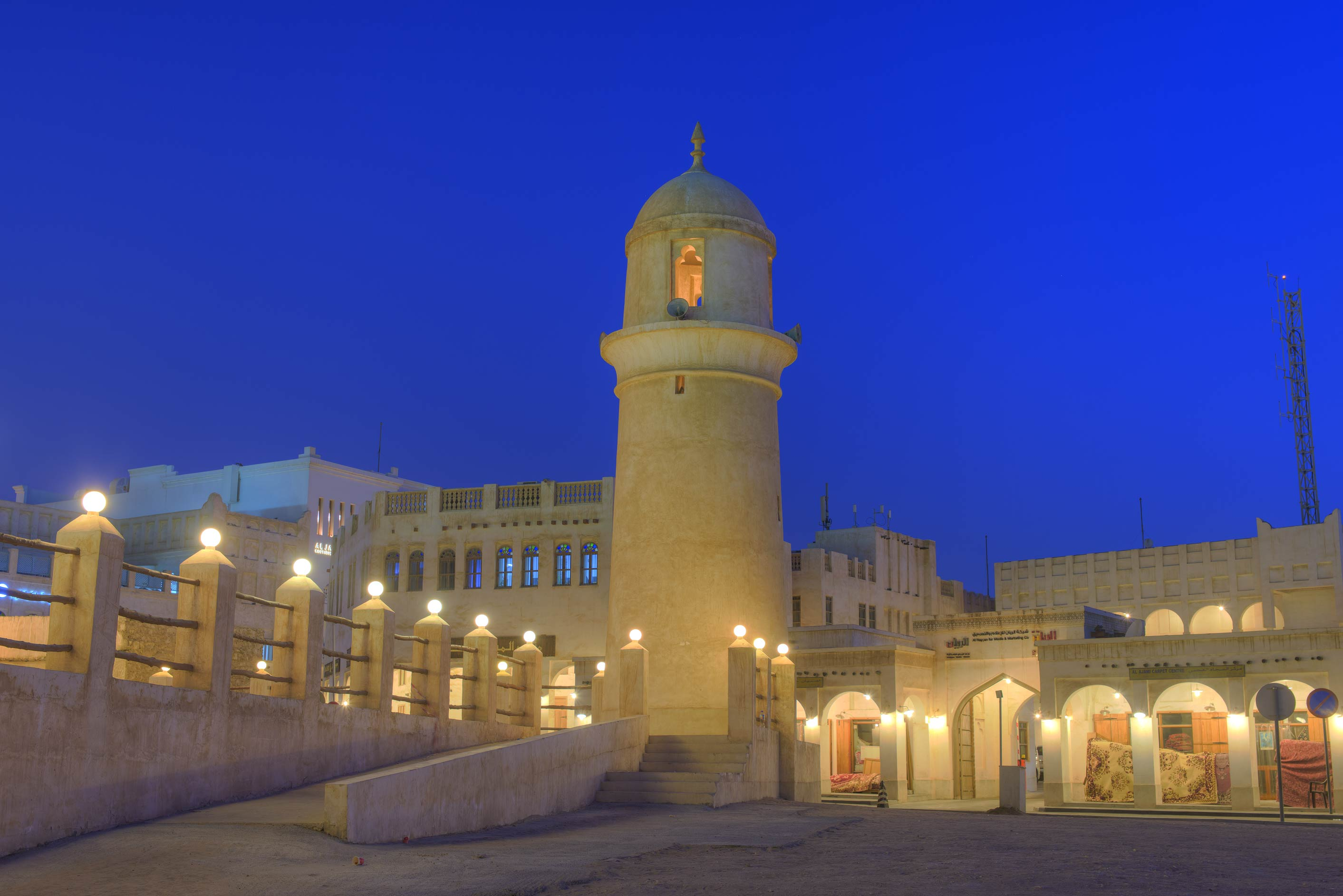 Souq Waqif Mosque at morning. Doha, Qatar