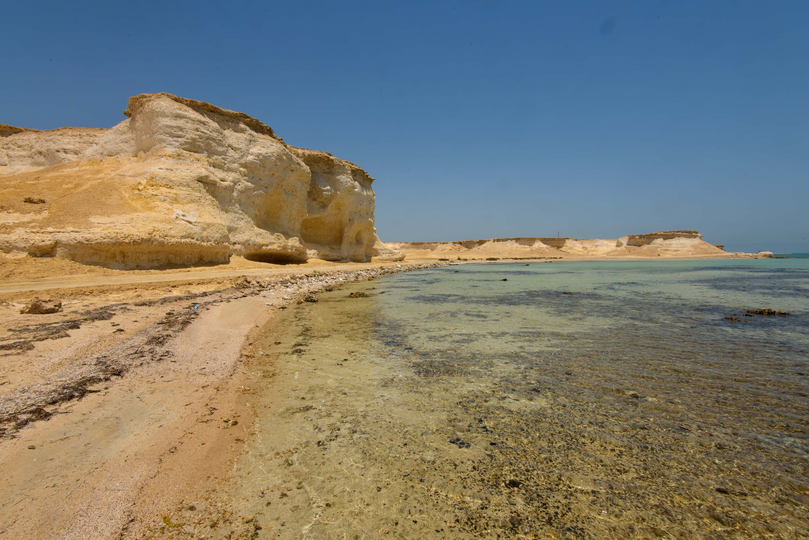 A beach in northern part of Ras Abrouq Peninsula, north from Zekreet. Qatar