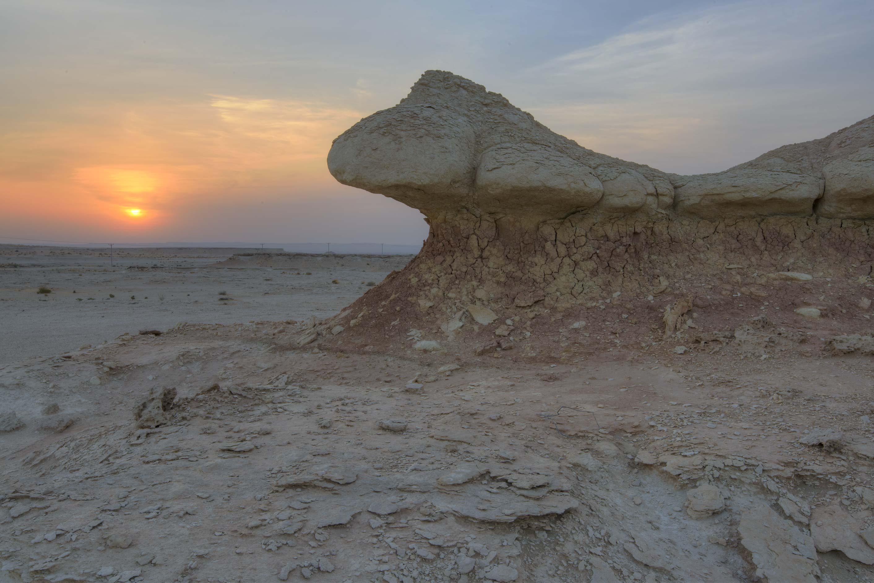 Photo 1843-01: Wind erosion of limestone cliffs in ...